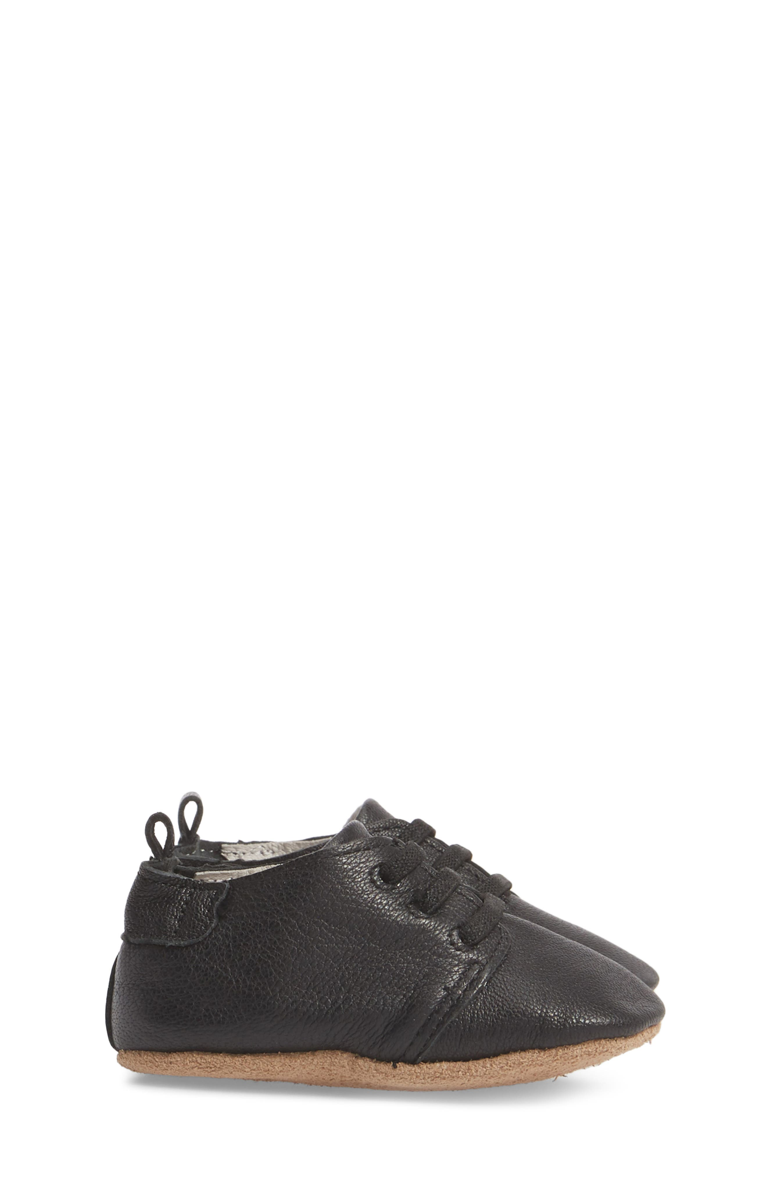 Owen Oxford Crib Shoe,                             Alternate thumbnail 3, color,                             BLACK