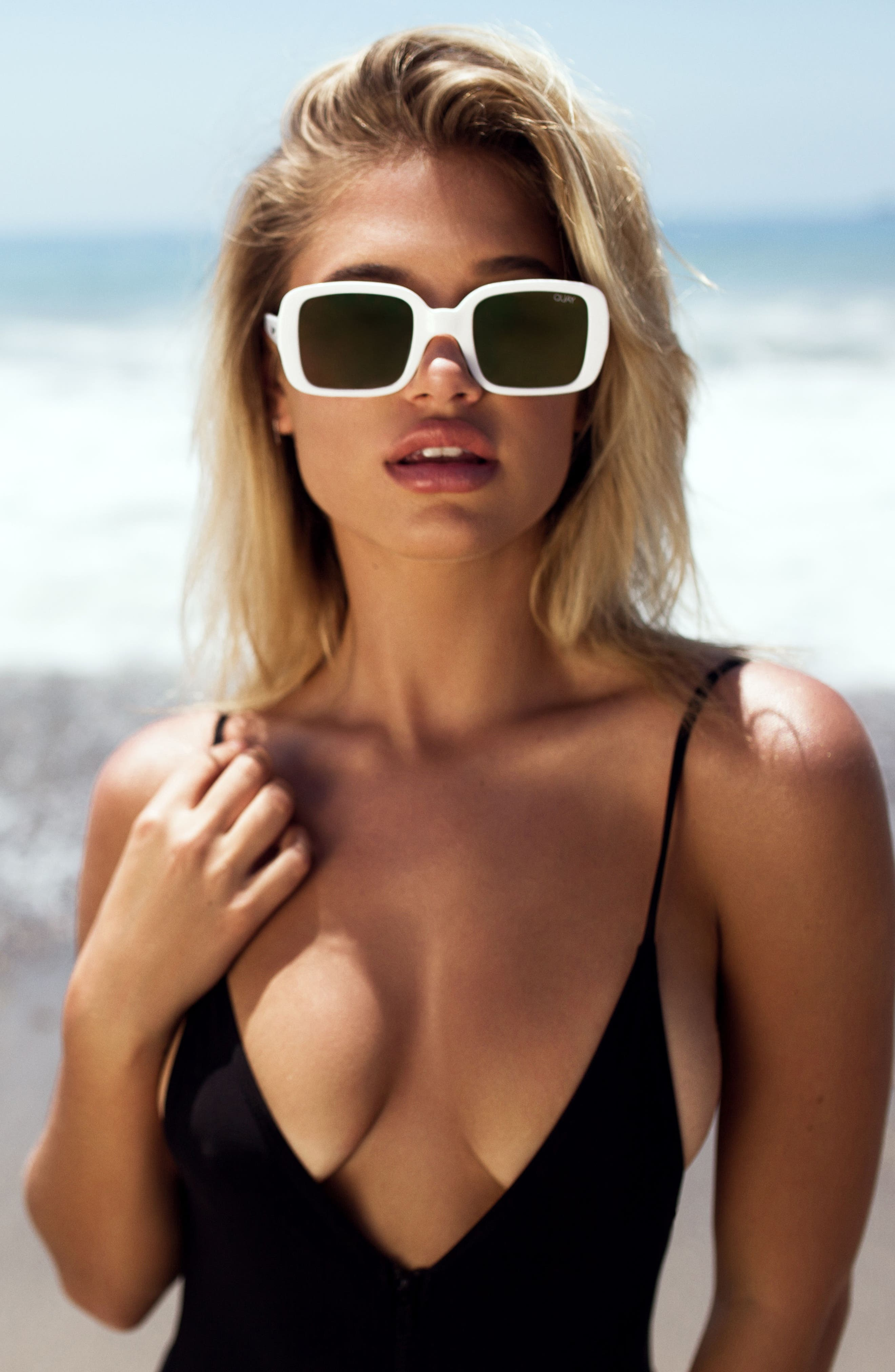 '20s 54mm Square Sunglasses,                             Alternate thumbnail 7, color,                             001
