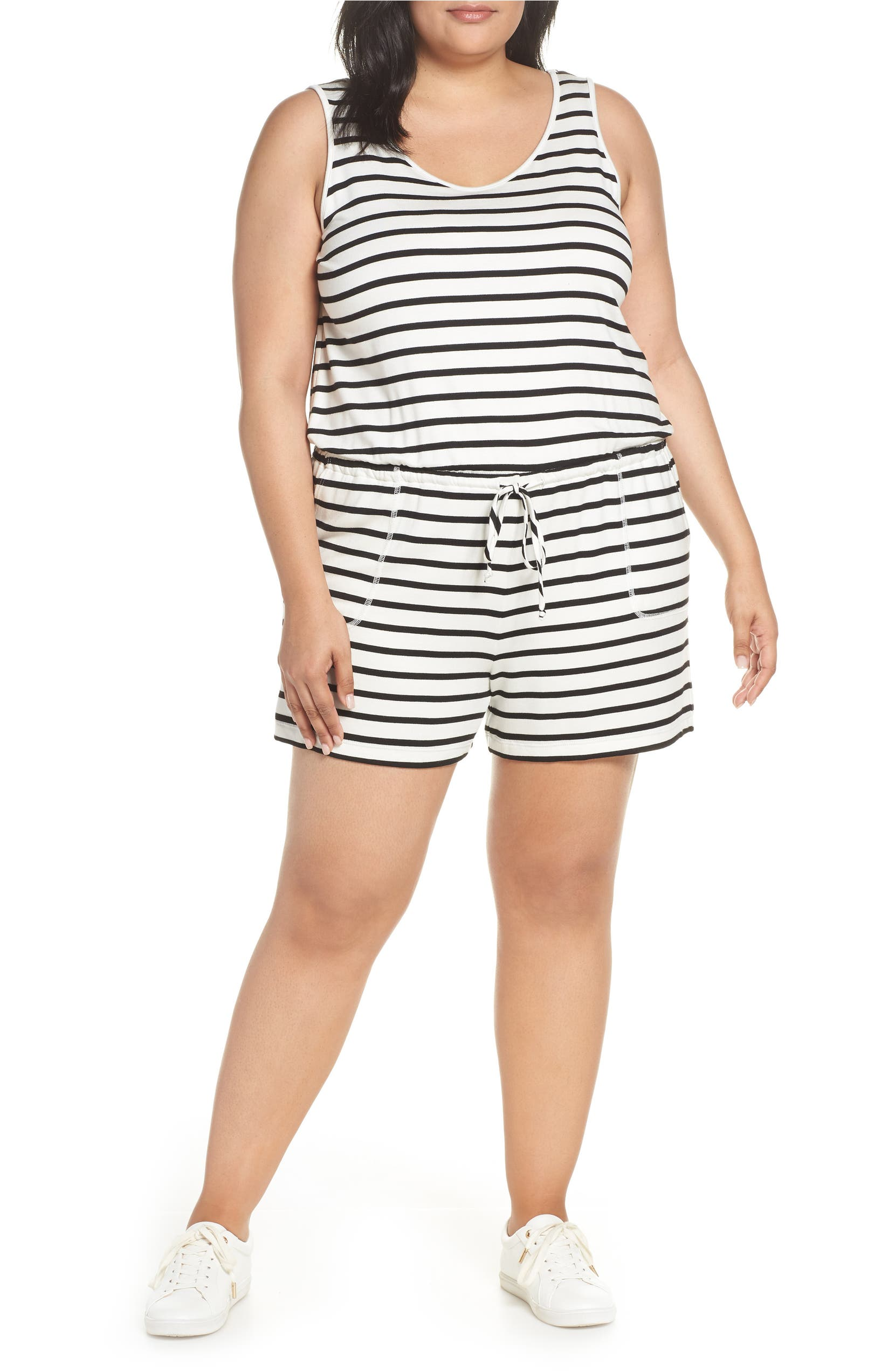 Gibson x Hi Sugarplum! Seaside Soft Jersey Lounge Romper (Plus Size) (Nordstrom  Exclusive)  e3ac7958e