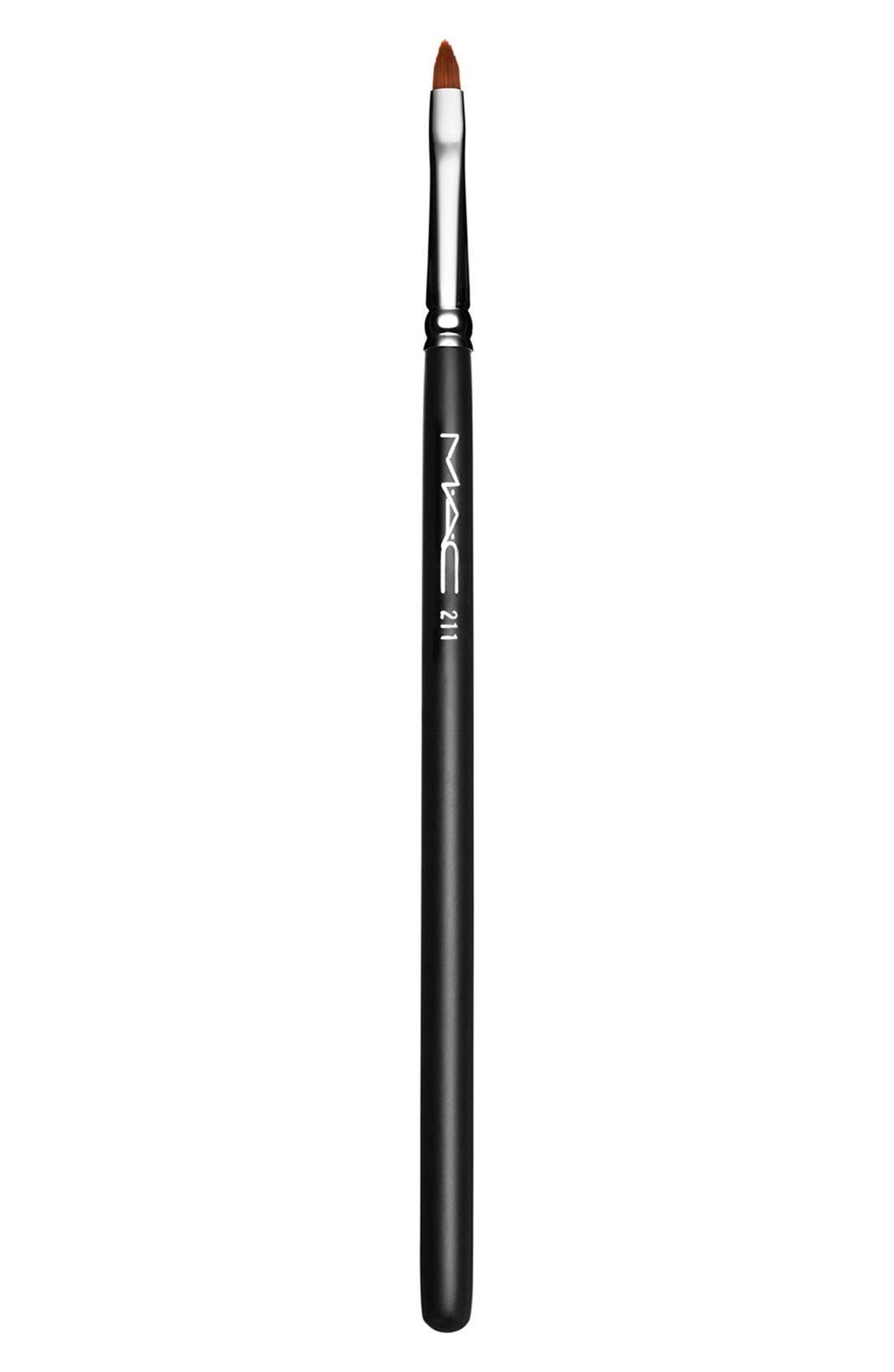 MAC 211 Pointed Liner Brush,                             Main thumbnail 1, color,                             000