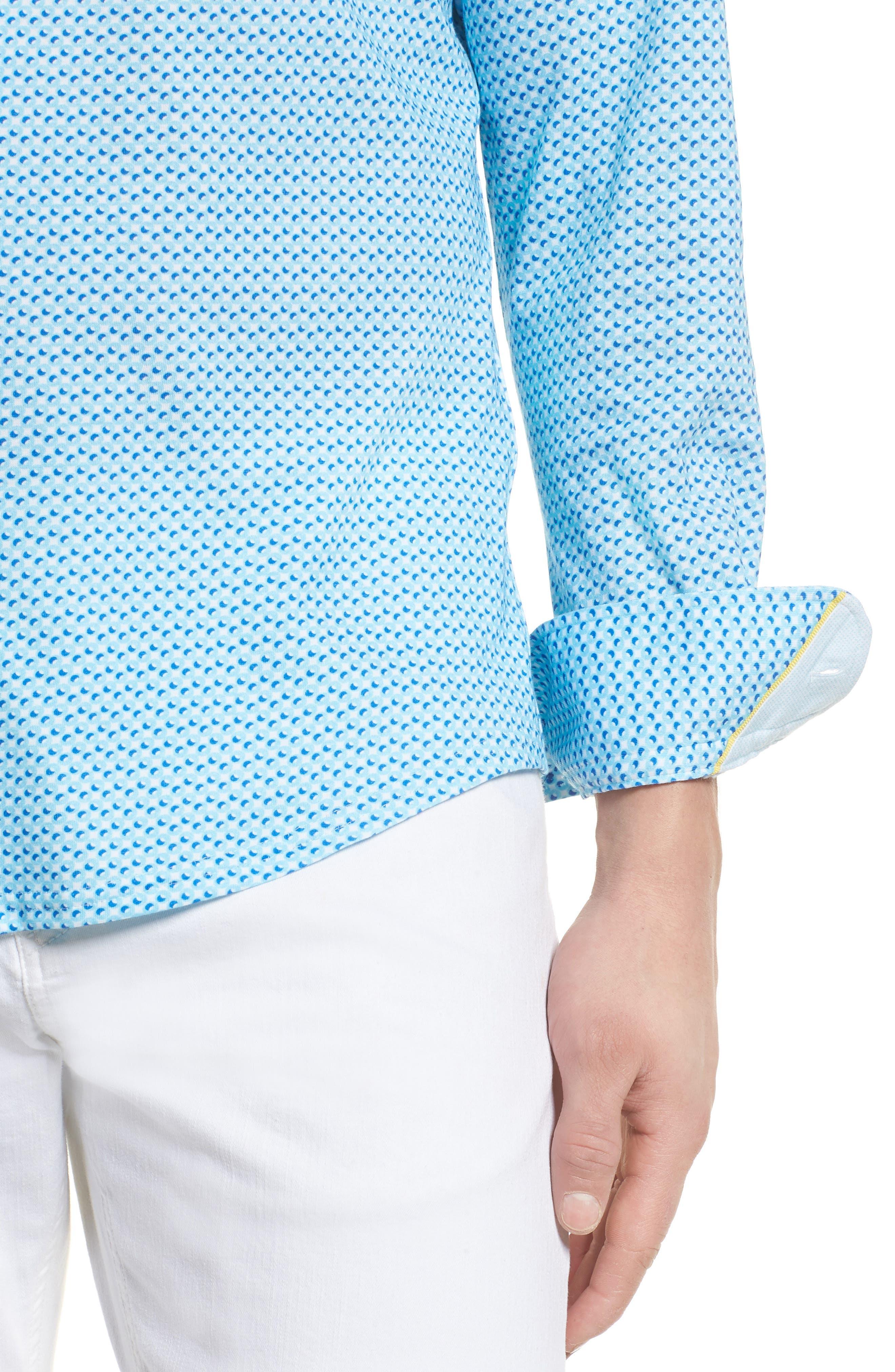 Contemporary Fit Circle Print Sport Shirt,                             Alternate thumbnail 4, color,                             400