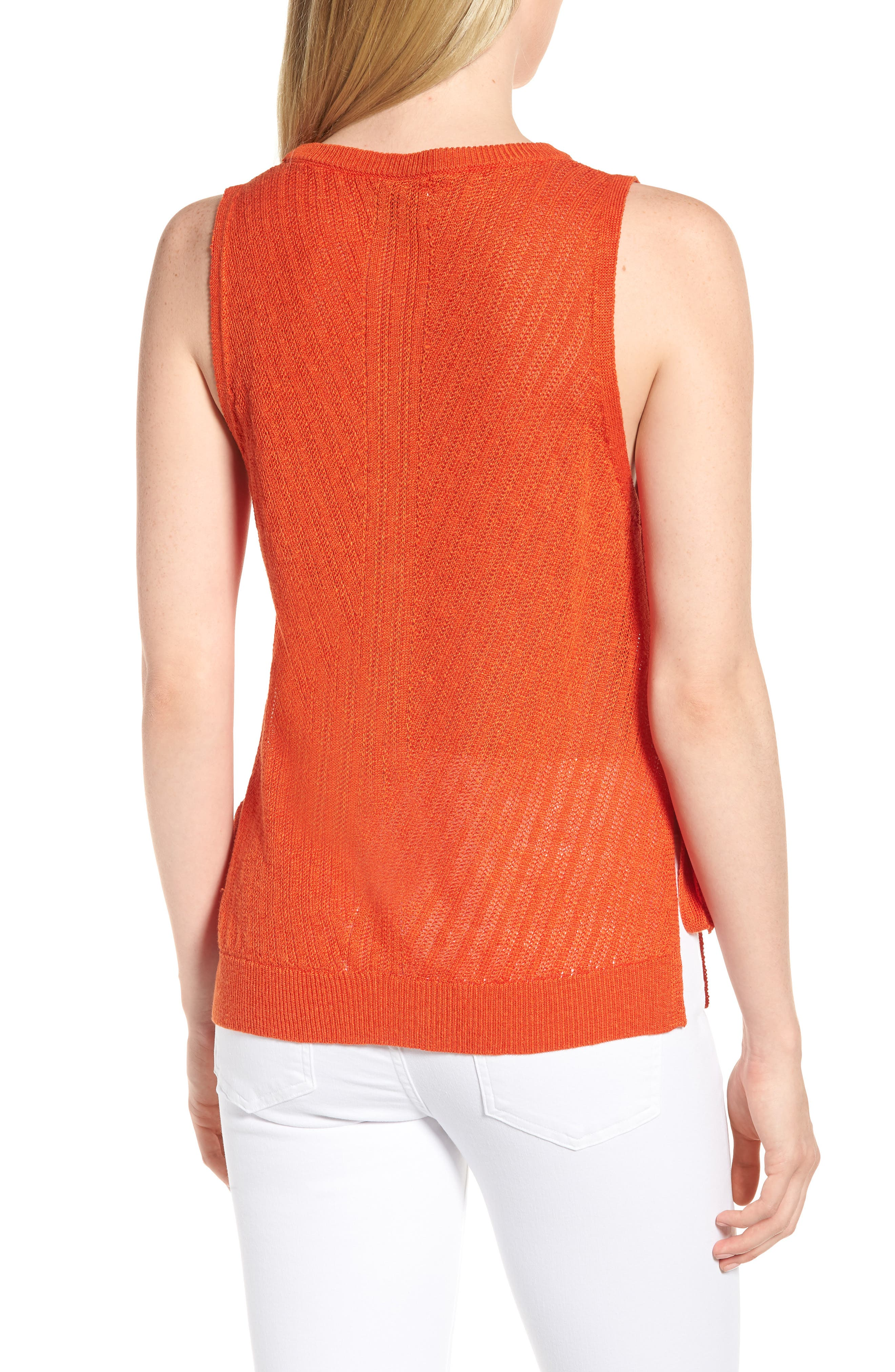 Side Tie Tank Sweater,                             Alternate thumbnail 2, color,                             610