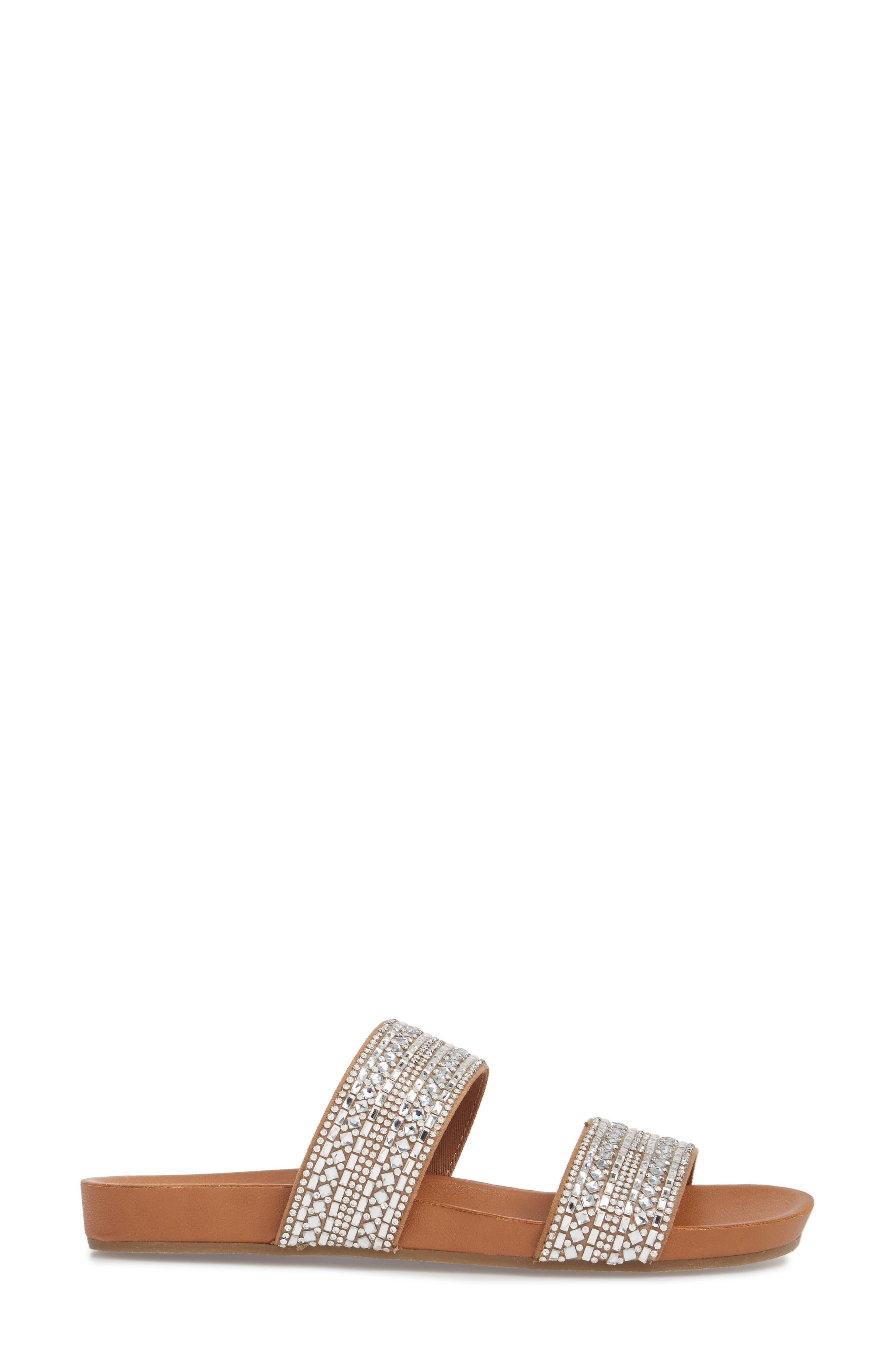 Dynamo Embellished Slide Sandal,                             Alternate thumbnail 3, color,                             040