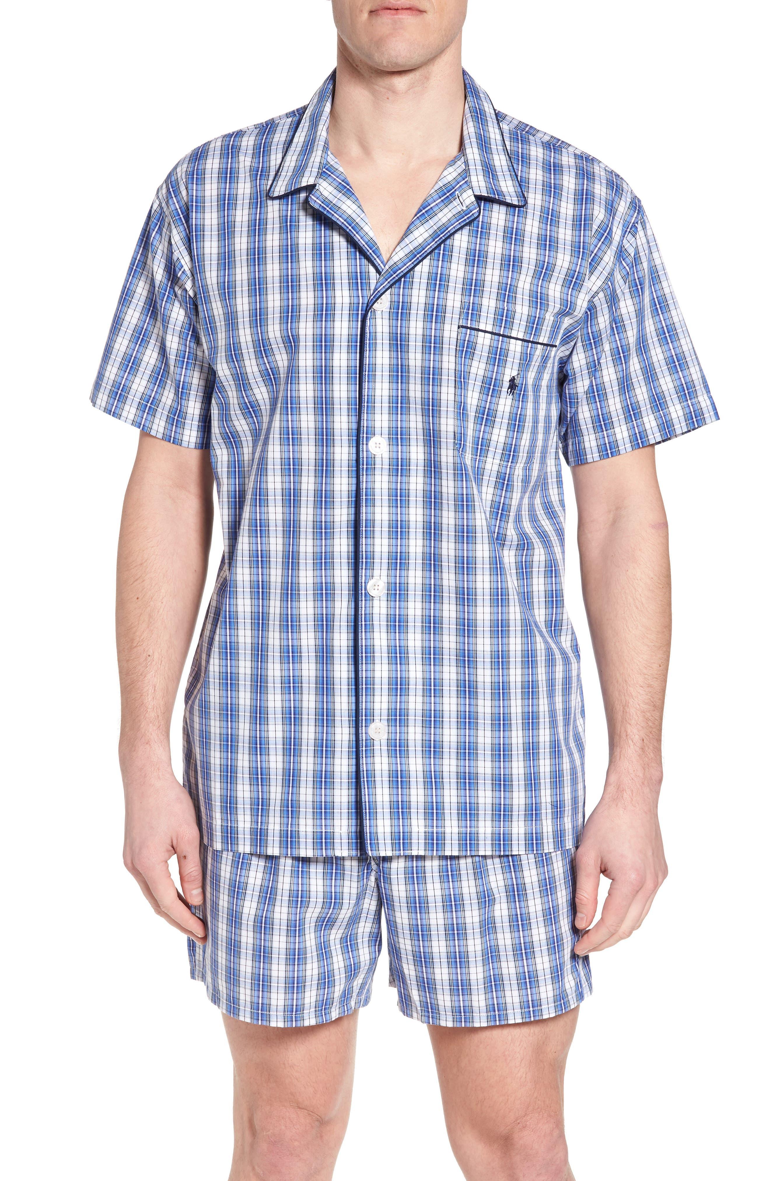 Cotton Pajama Shirt,                             Main thumbnail 1, color,                             428