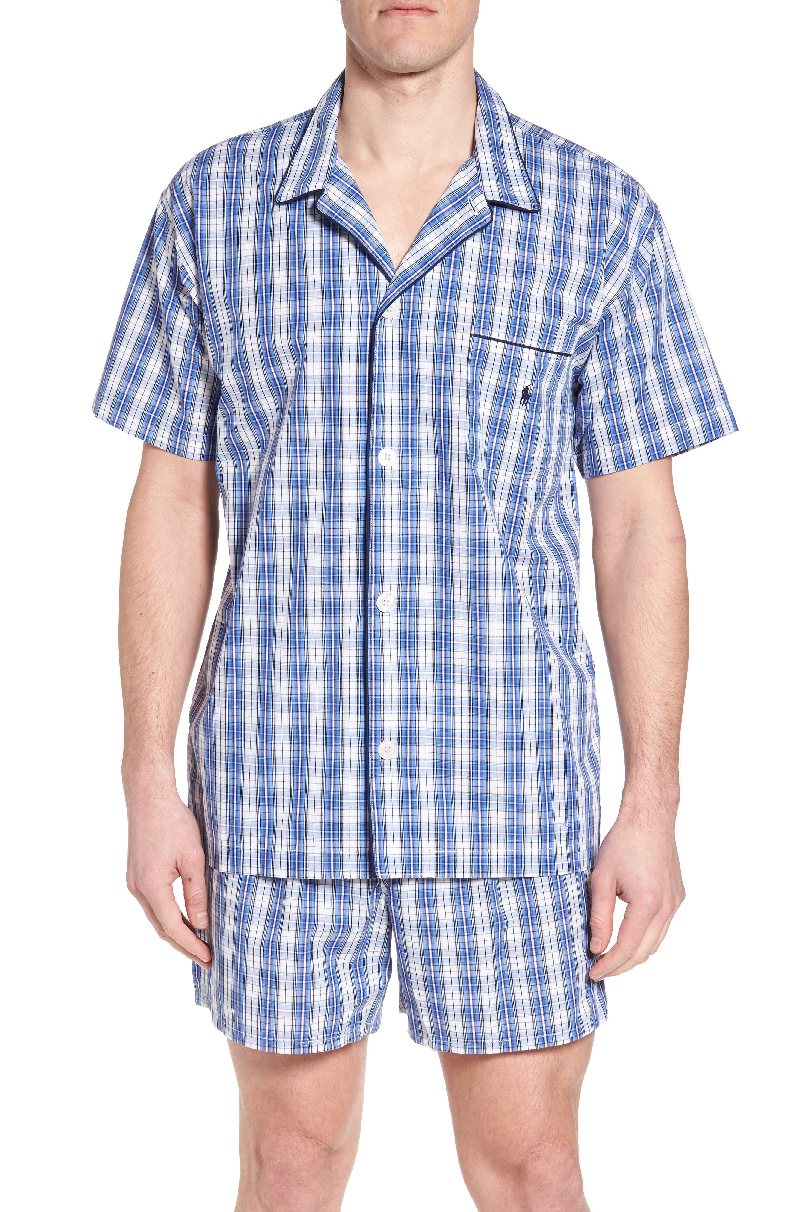 Cotton Pajama Shirt,                         Main,                         color, 428