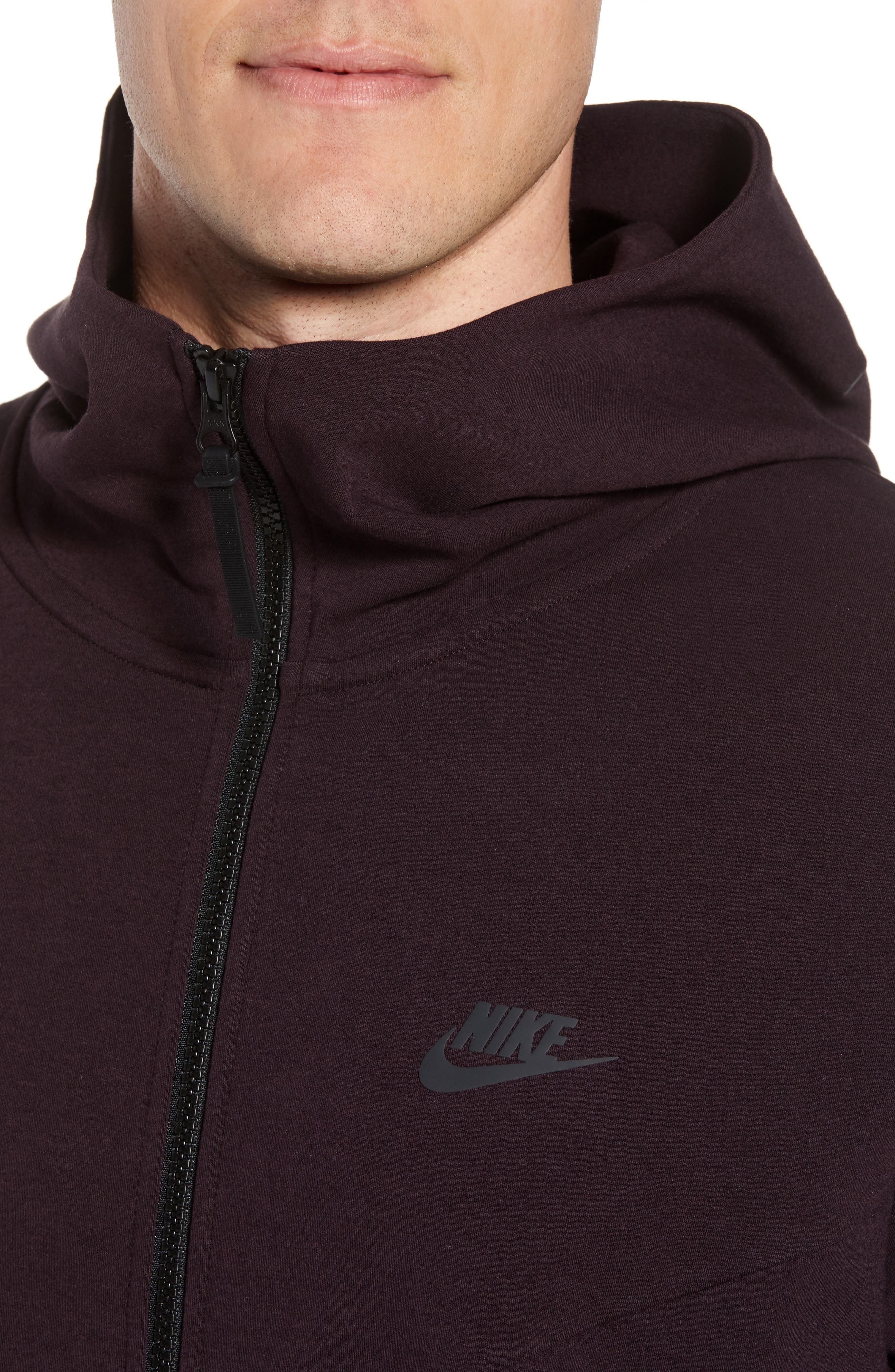 Sportswear Tech Full Zip Hoodie,                             Alternate thumbnail 4, color,                             BLACK/ BLACK