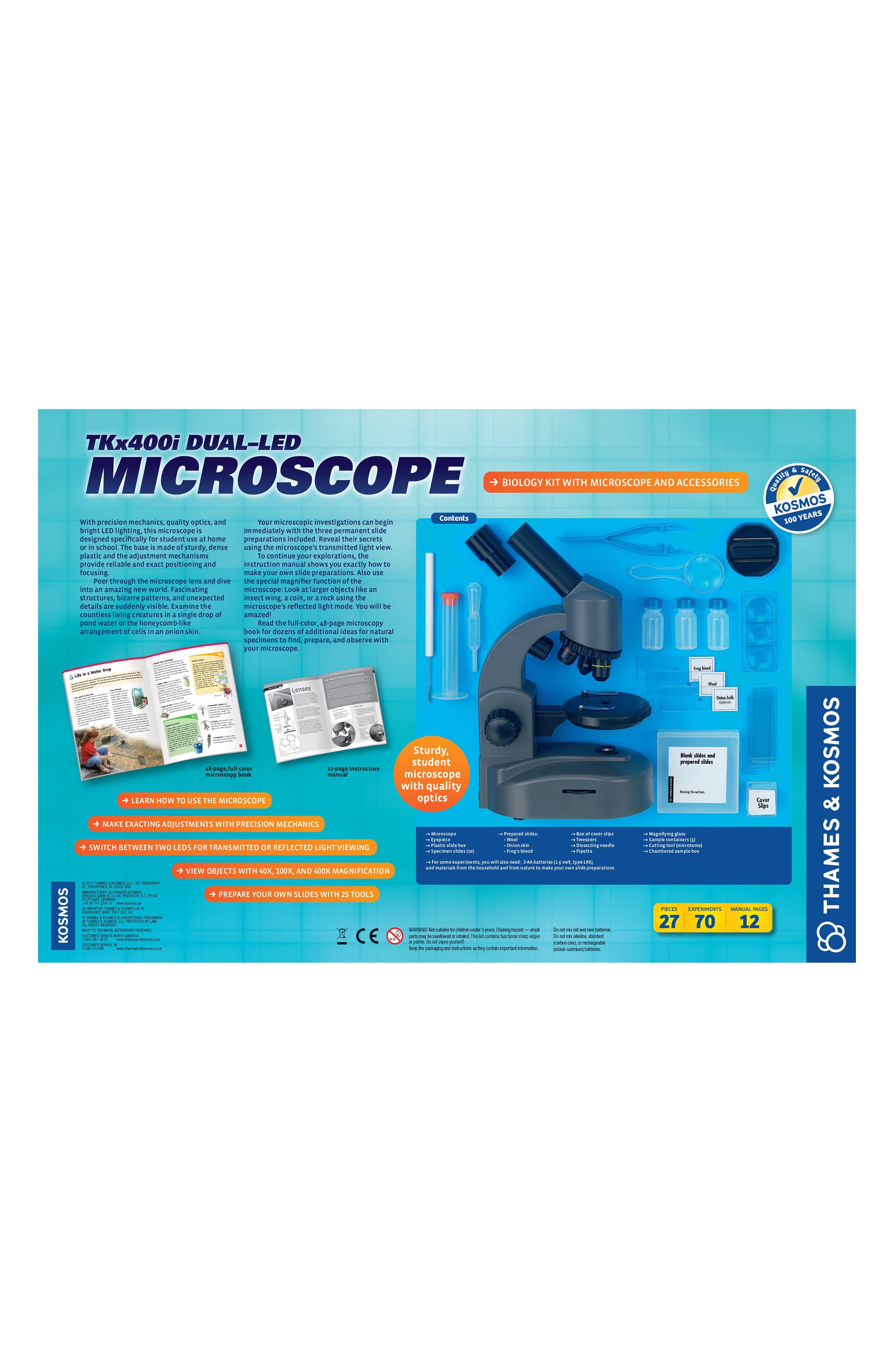 TKx400i Dual-LED Microscope,                             Alternate thumbnail 2, color,                             GREY
