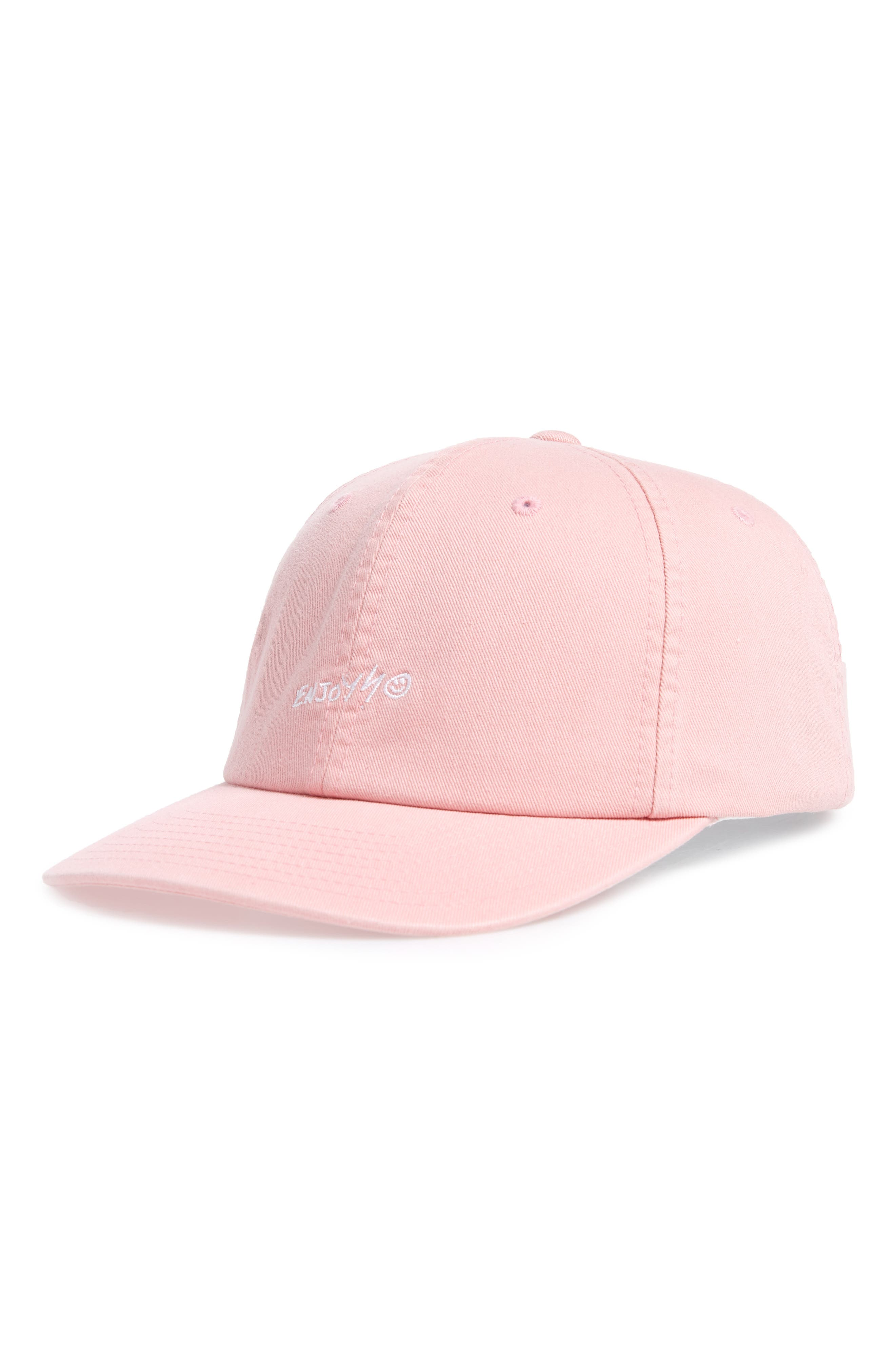 HURLEY Enjoy Embroidered Ball Cap - Pink in Storm Pink