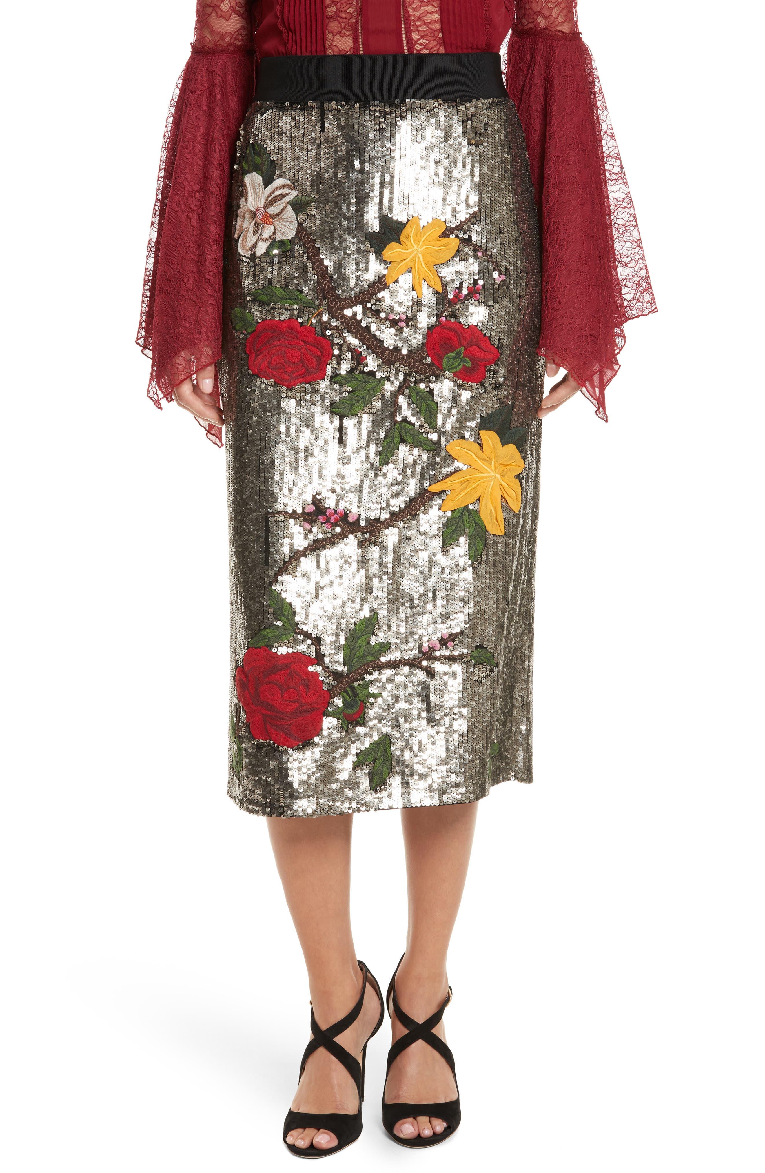 Ella Embellished Midi Skirt,                             Main thumbnail 1, color,                             047