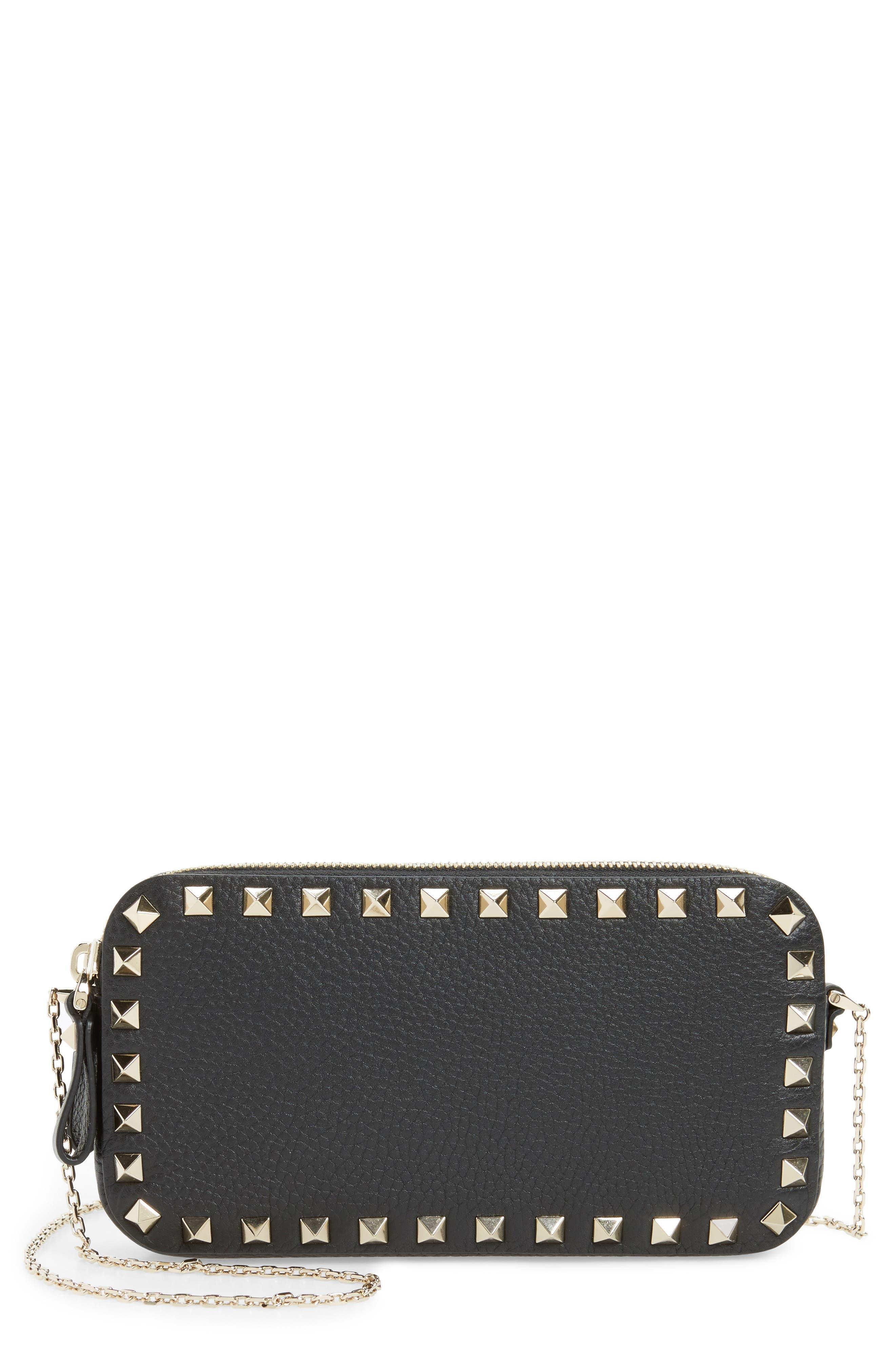 Mini Calfskin Leather Camera Bag,                         Main,                         color, 001