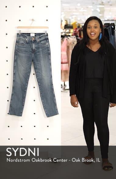 Raw Hem Slim Straight Leg Jeans, sales video thumbnail
