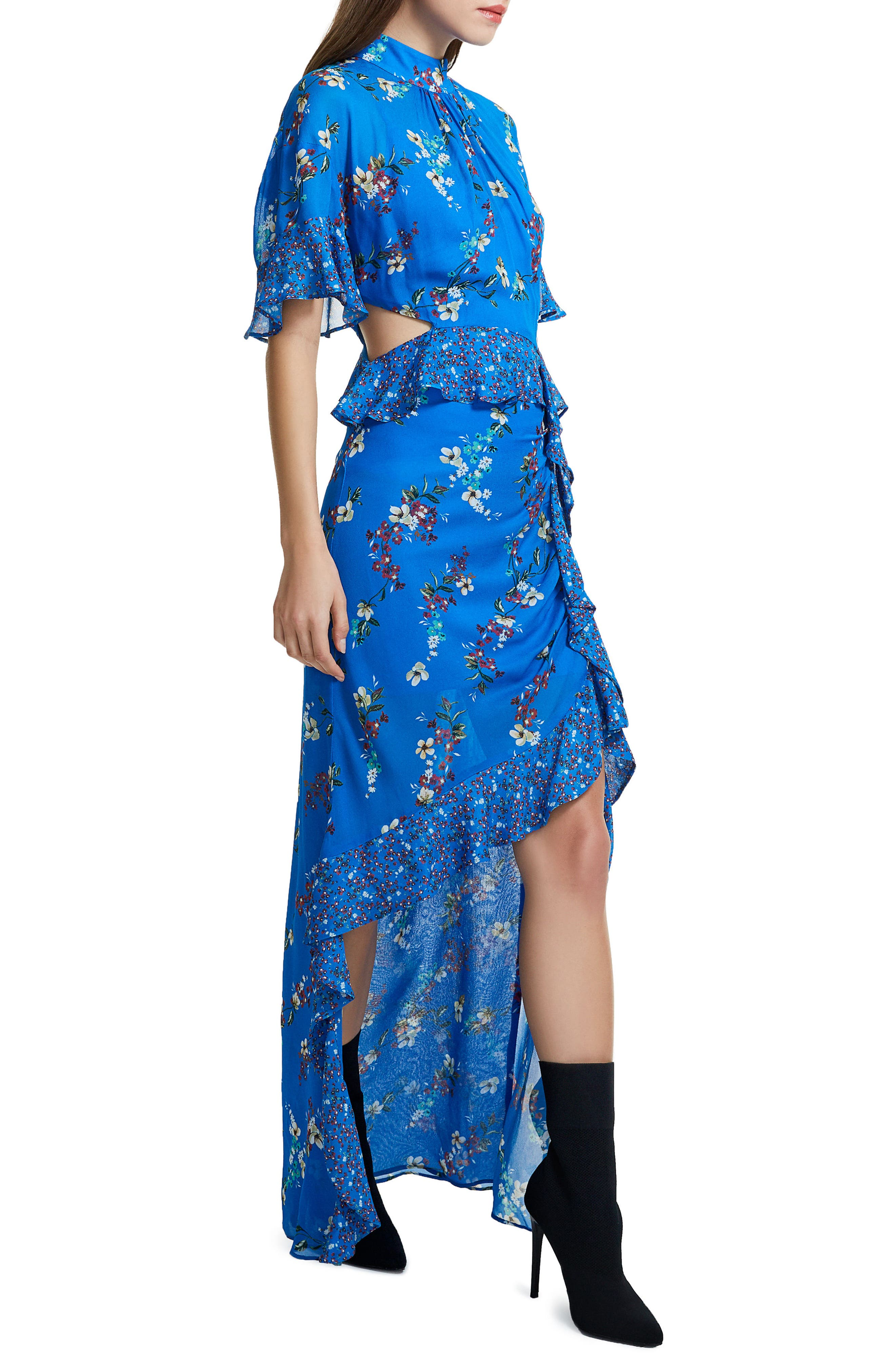 Melsa Cutout Maxi Dress,                             Alternate thumbnail 6, color,