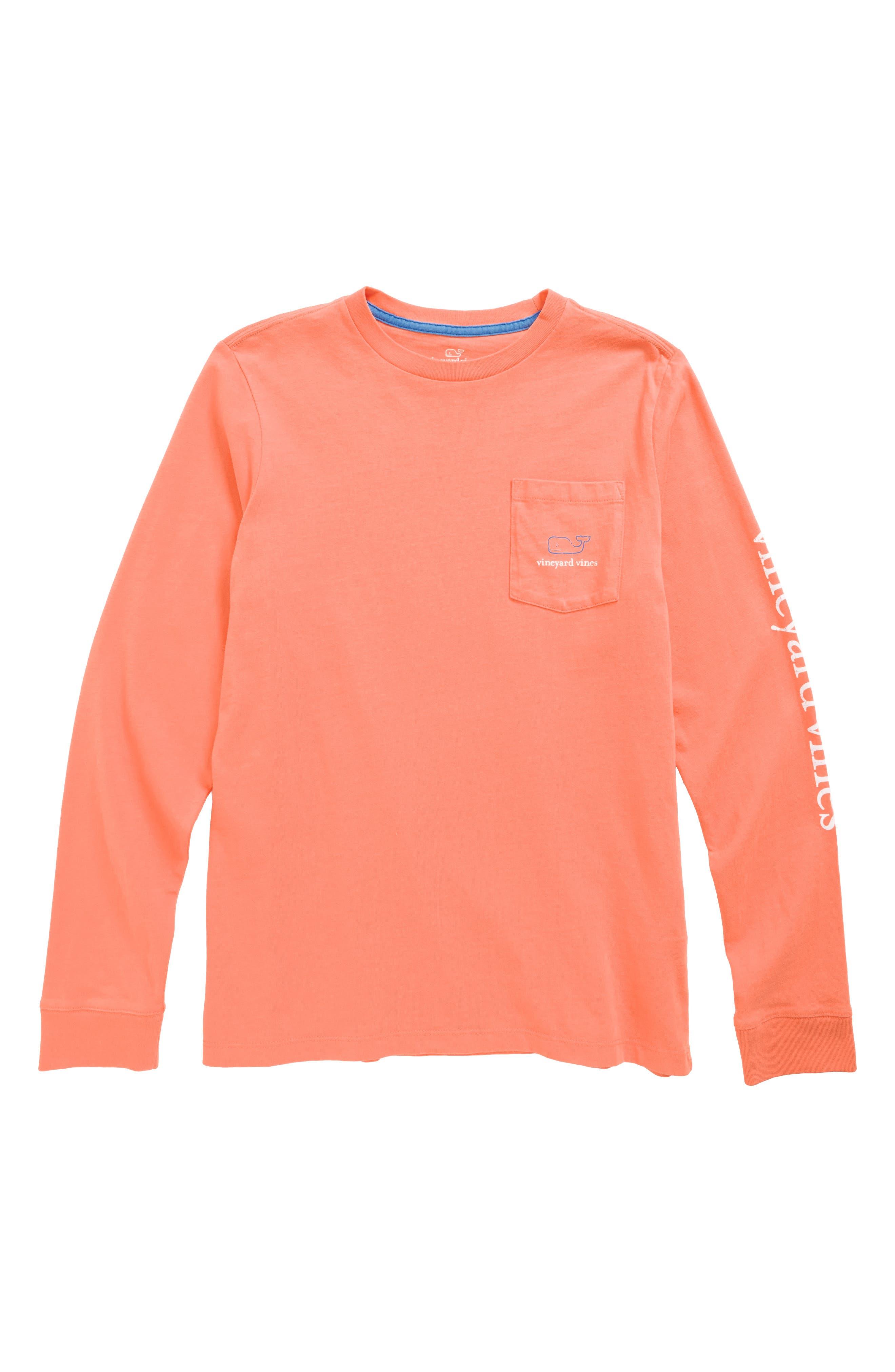 Vintage Whale Long Sleeve Pocket T-Shirt,                             Main thumbnail 5, color,