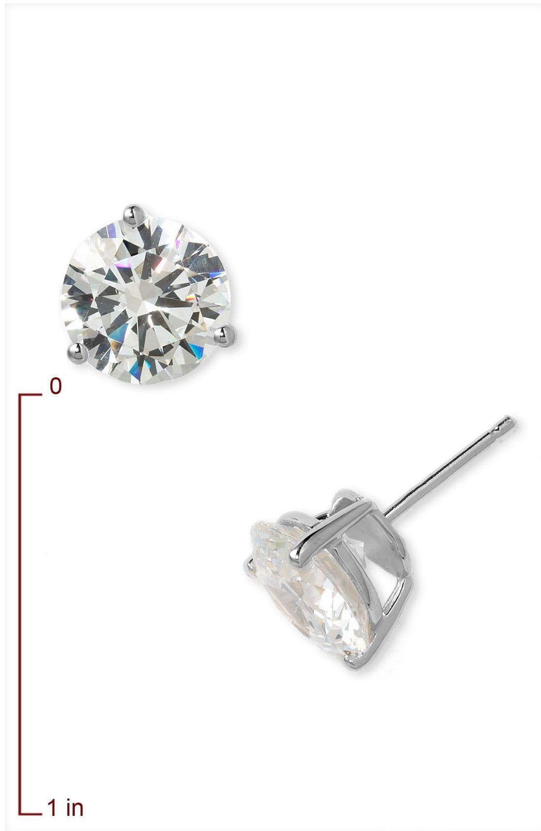 8.0ct tw Cubic Zirconia Earrings,                             Alternate thumbnail 6, color,                             PLATINUM