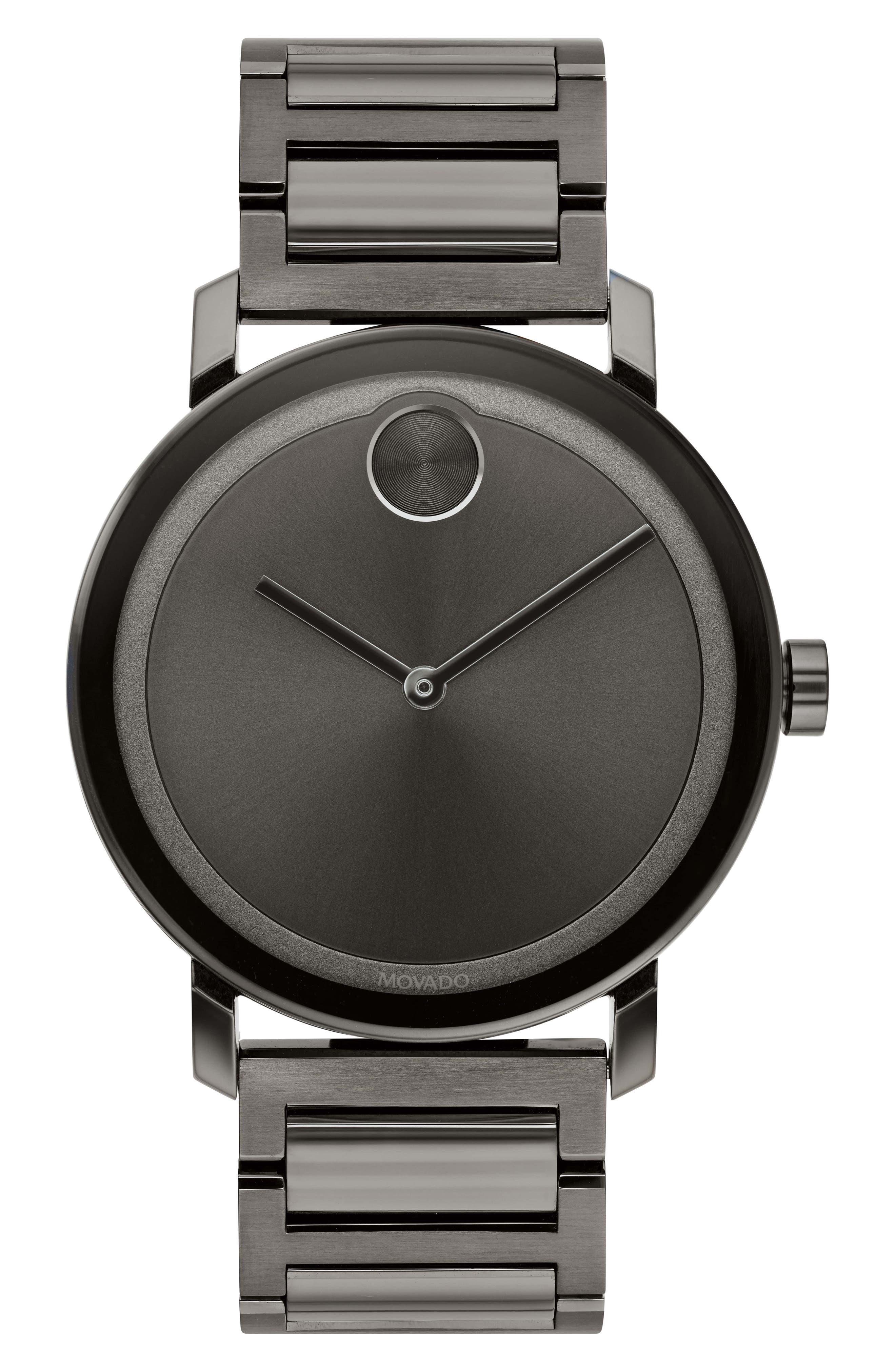 Bold Bracelet Watch, 40mm,                         Main,                         color, GUNMETAL