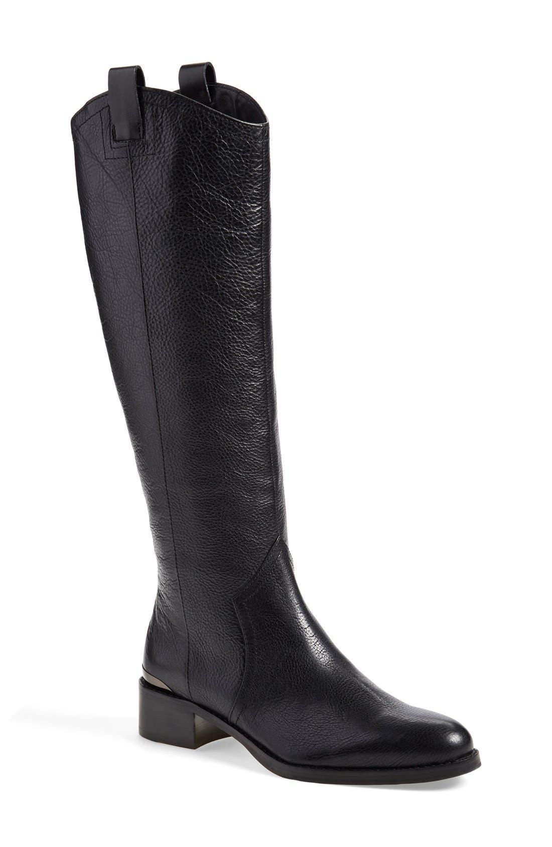 'Zada' Knee High Riding Boot,                         Main,                         color, 001