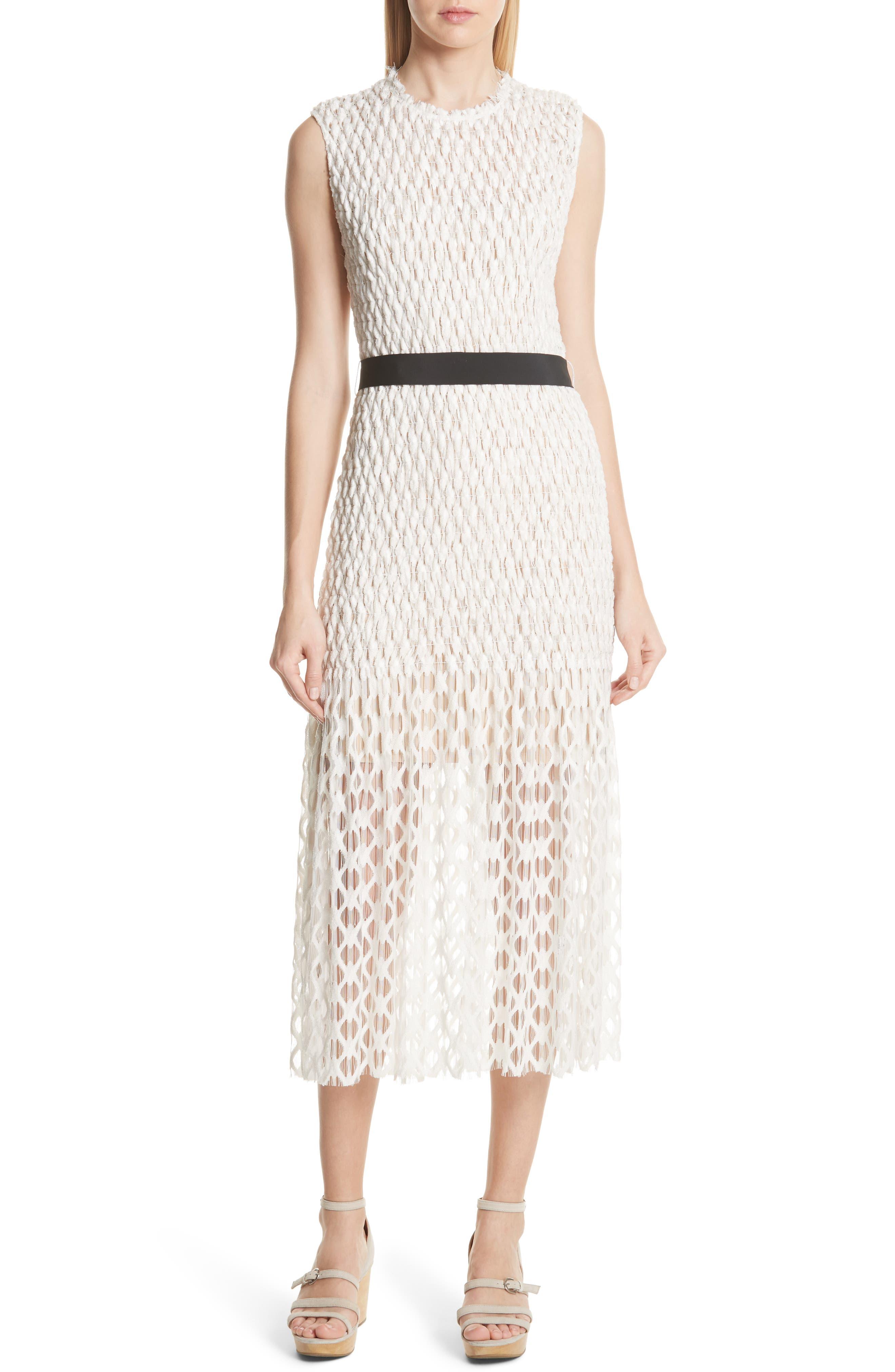 Merge Midi Dress,                         Main,                         color, OFF WHITE