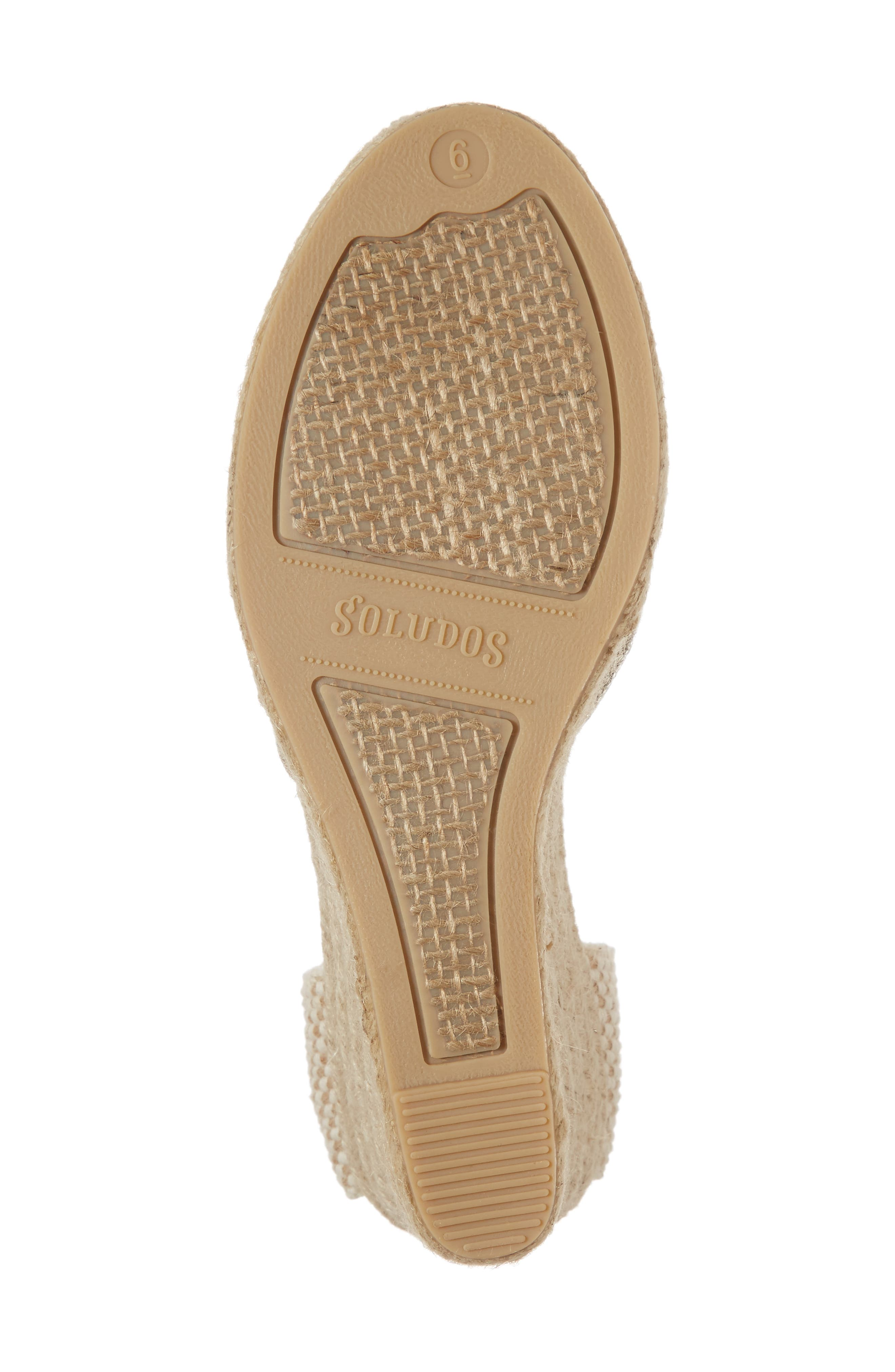 Wedge Lace-Up Espadrille Sandal,                             Alternate thumbnail 6, color,                             711