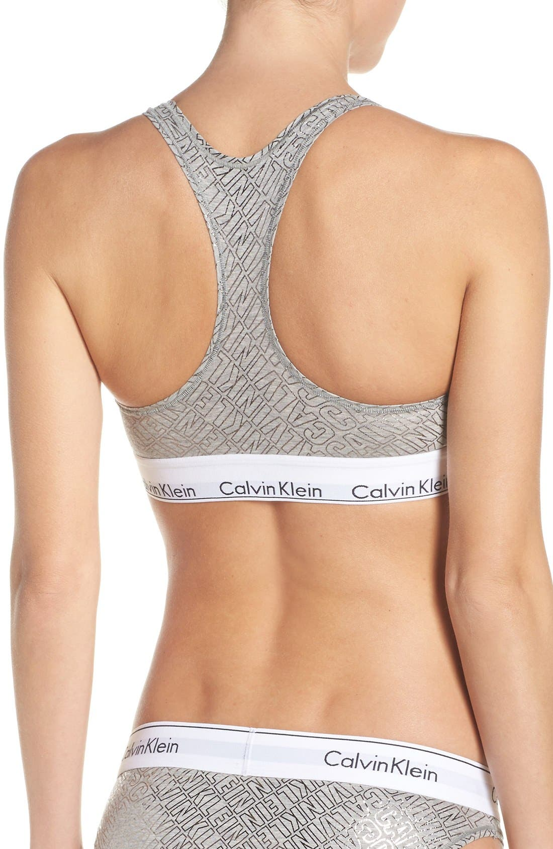 Modern Cotton Collection Cotton Blend Racerback Bralette,                             Alternate thumbnail 143, color,