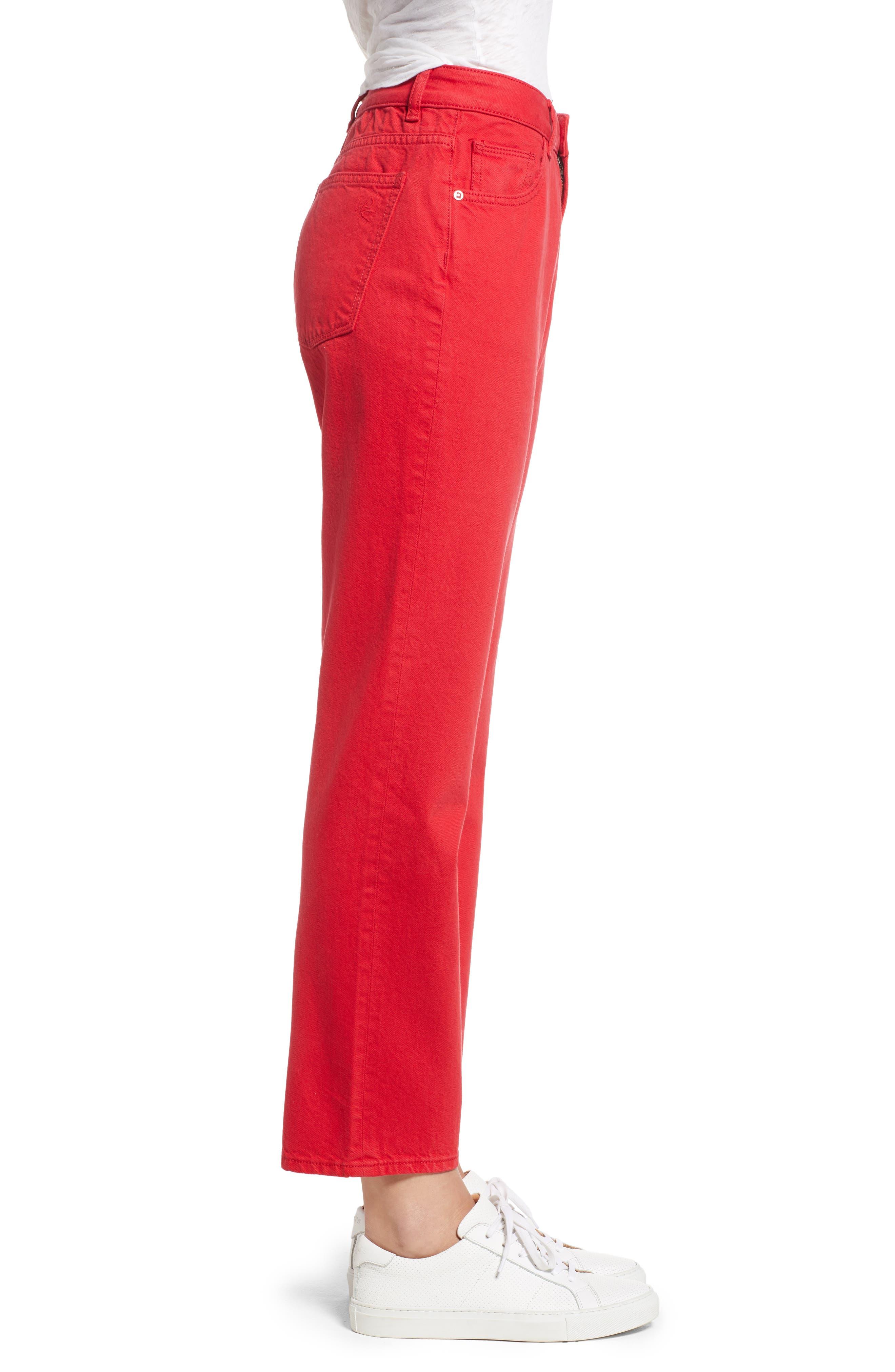 Jerry High Waist Straight Leg Jeans,                             Alternate thumbnail 3, color,                             600
