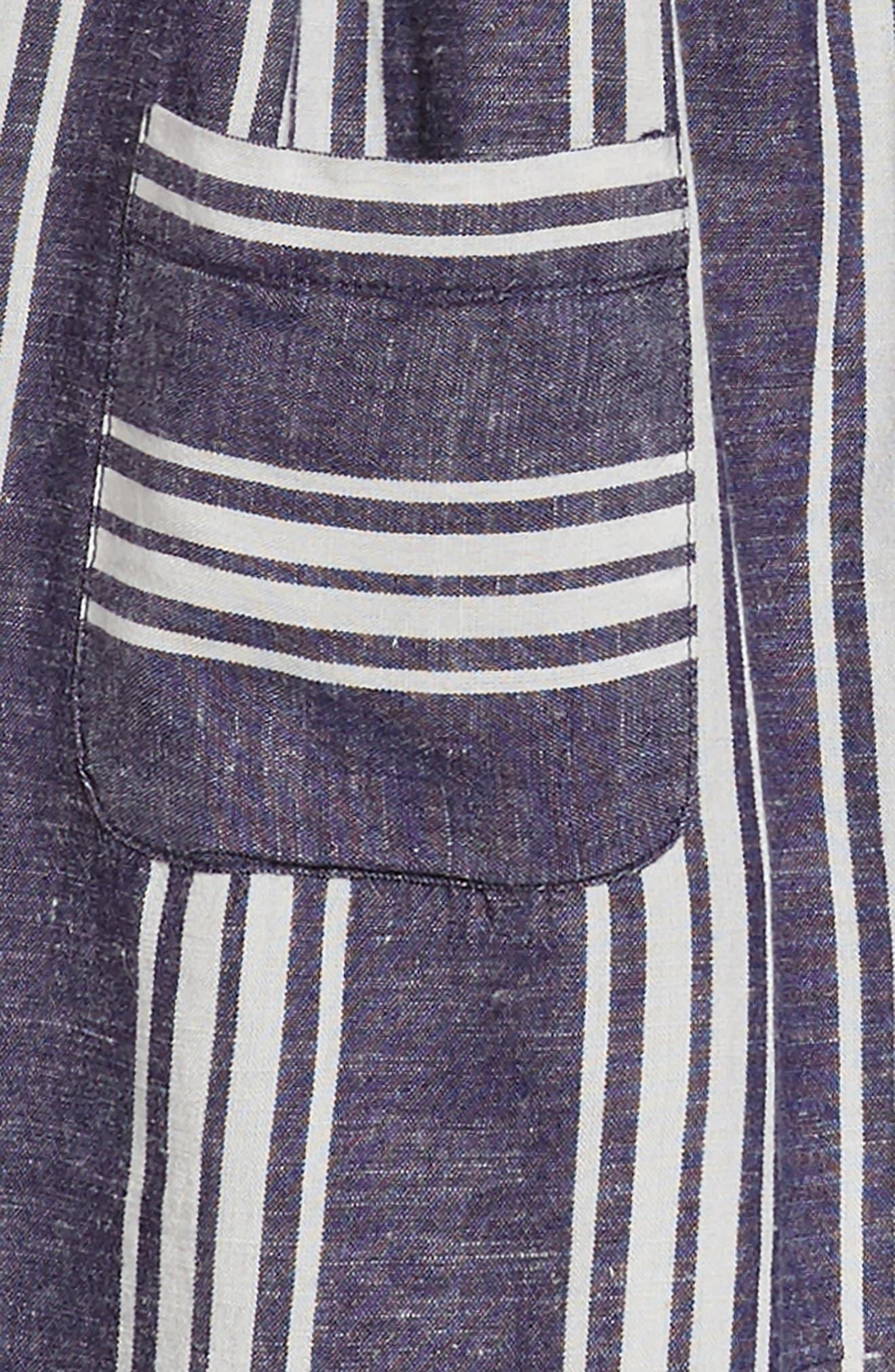 Stripe Fit & Flare Dress,                             Alternate thumbnail 3, color,