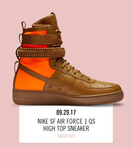 Nordstrom x Nike: new and hot Nike SF Air Force 1 QS High Top Sneaker.