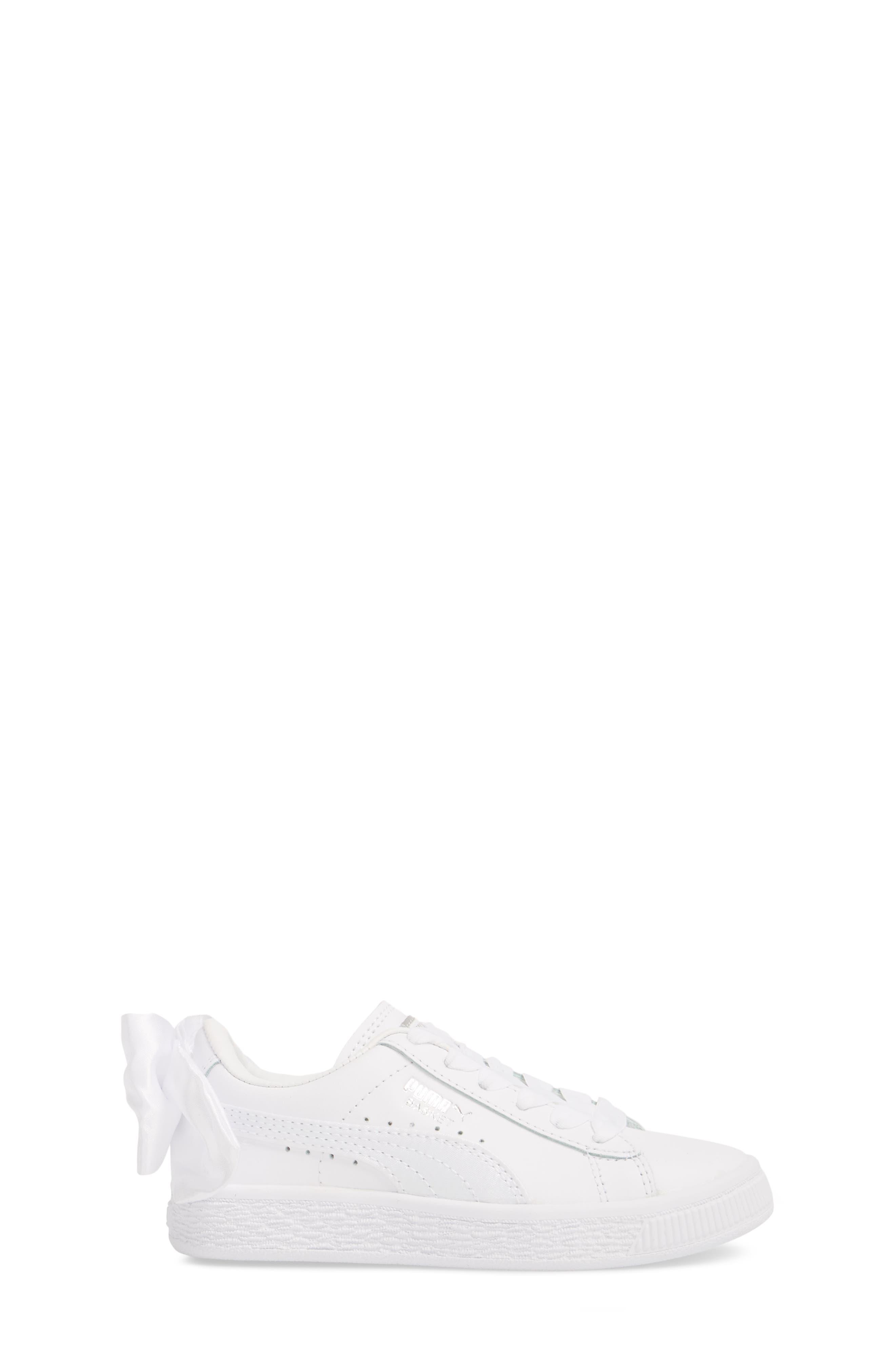 Basket Bow AC Sneaker,                             Alternate thumbnail 3, color,                             100