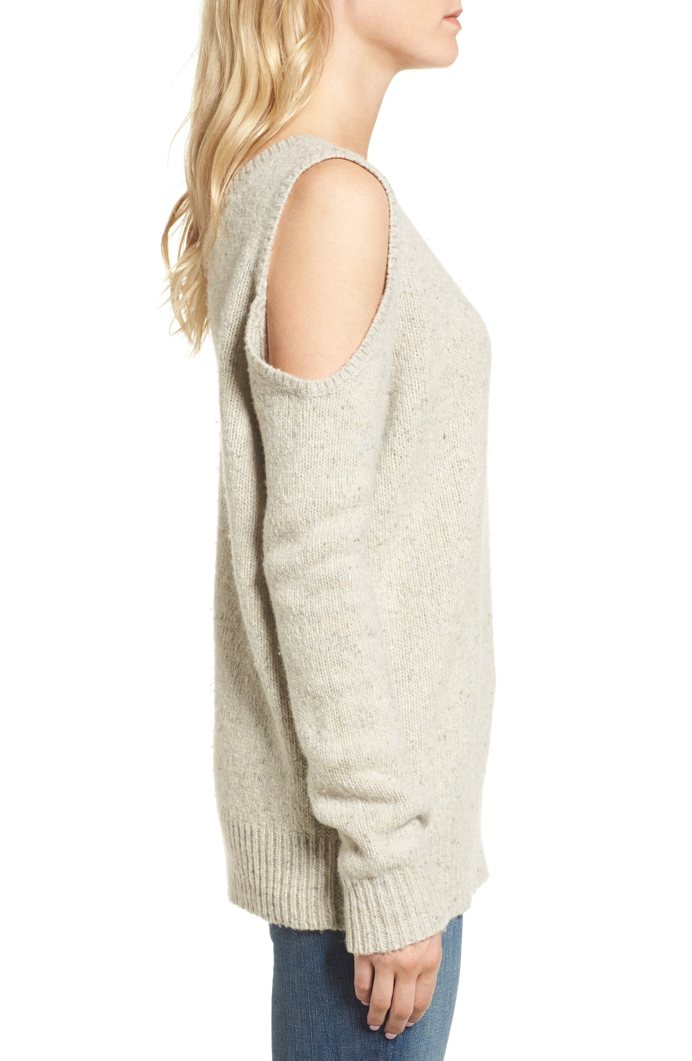 Page Cold Shoulder Sweater,                             Alternate thumbnail 21, color,