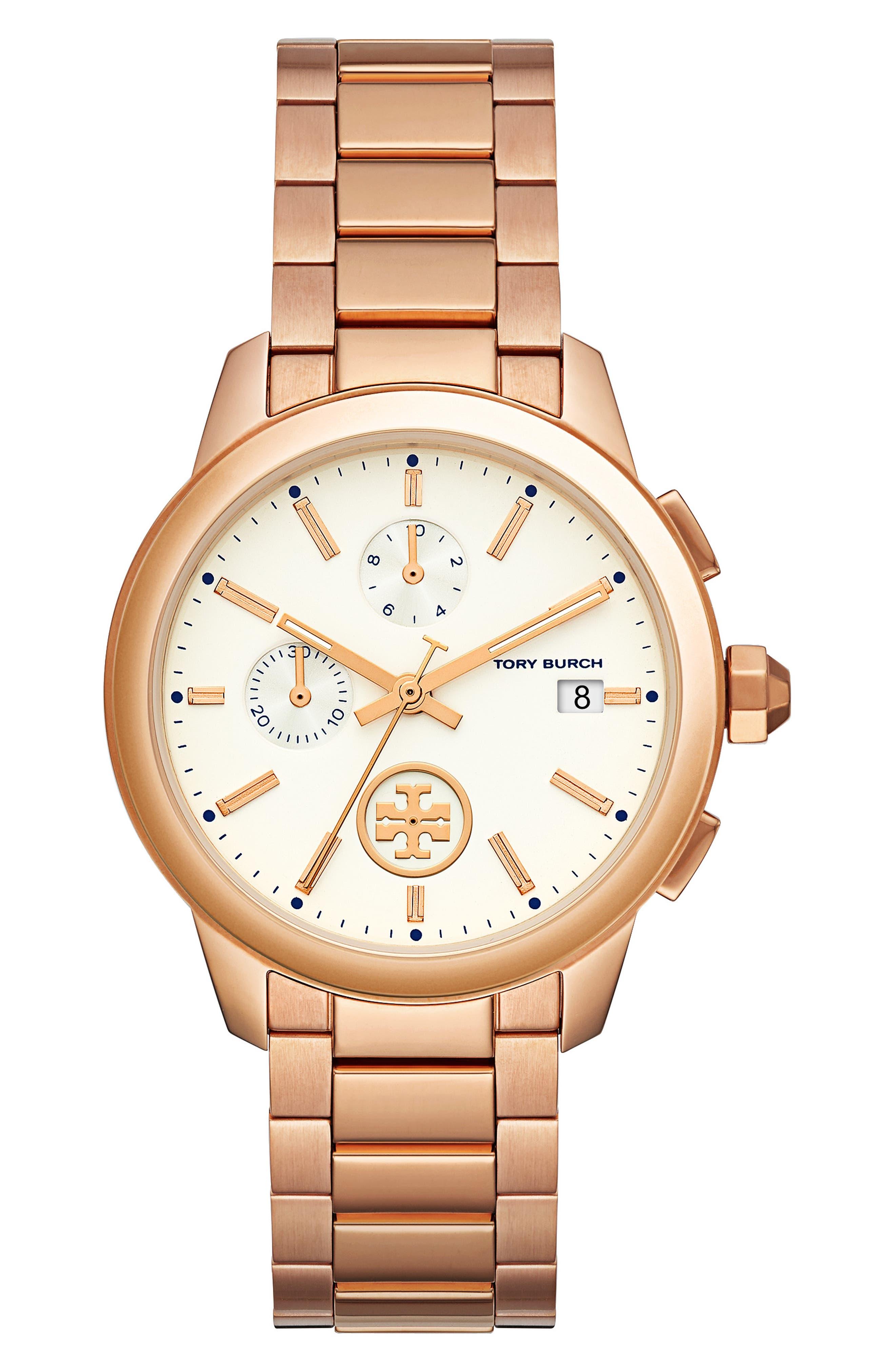 Collins Chronograph Bracelet Watch, 42mm,                         Main,                         color, 710