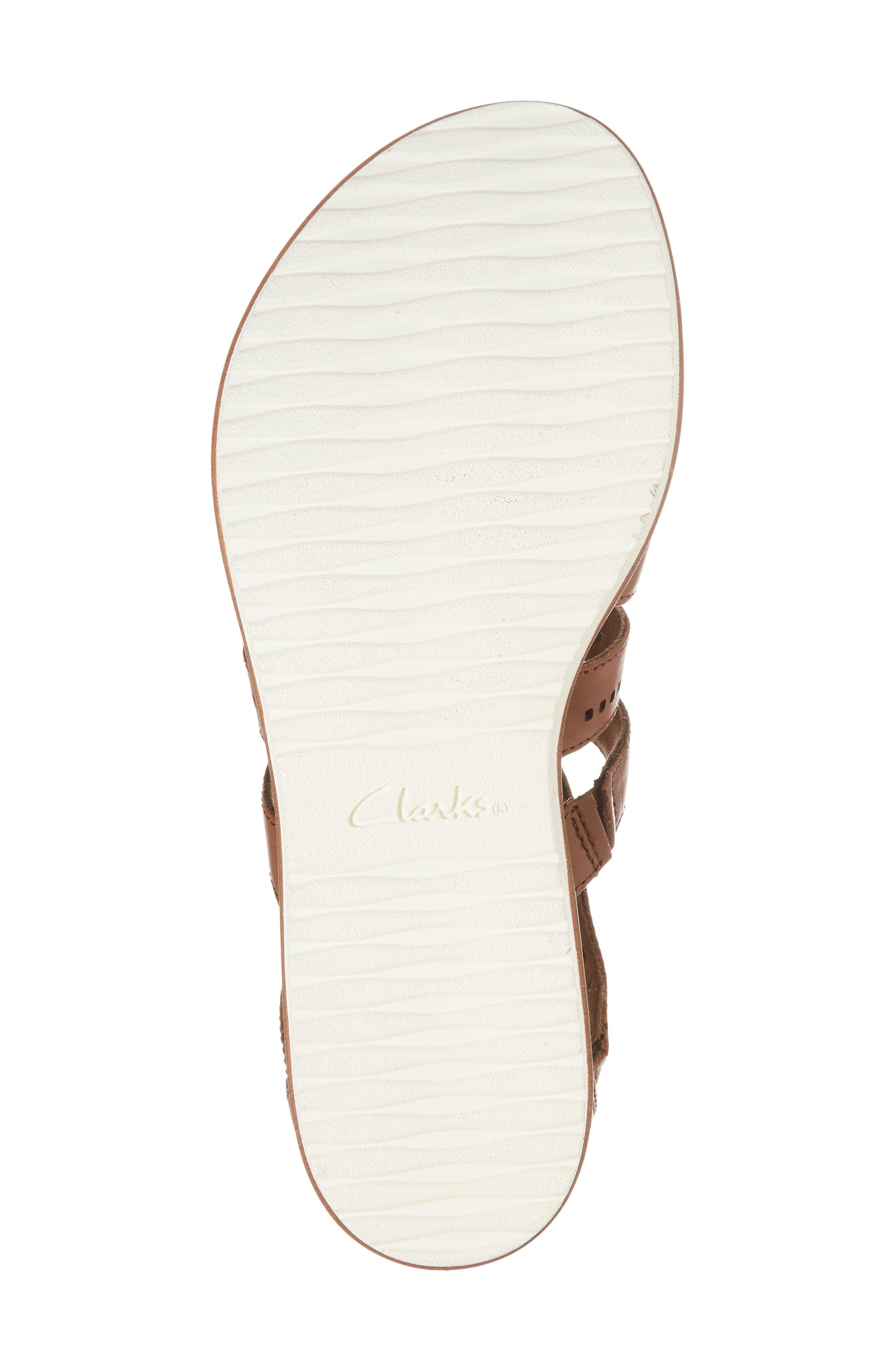 CLARKS<SUP>®</SUP>,                             Kele Lotus Sandal,                             Alternate thumbnail 6, color,                             250
