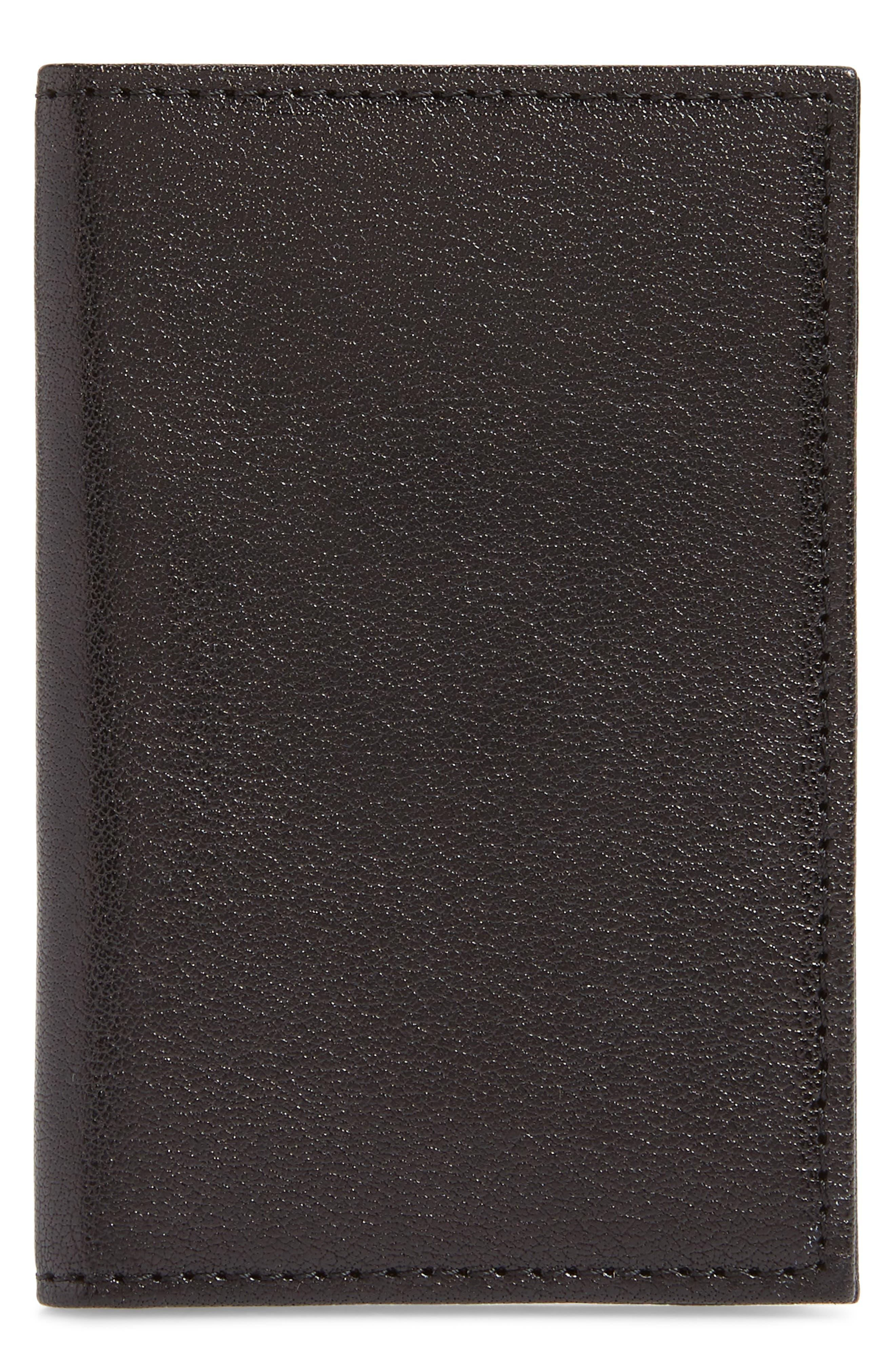 Landon Leather Flip Card Case,                         Main,                         color, 001