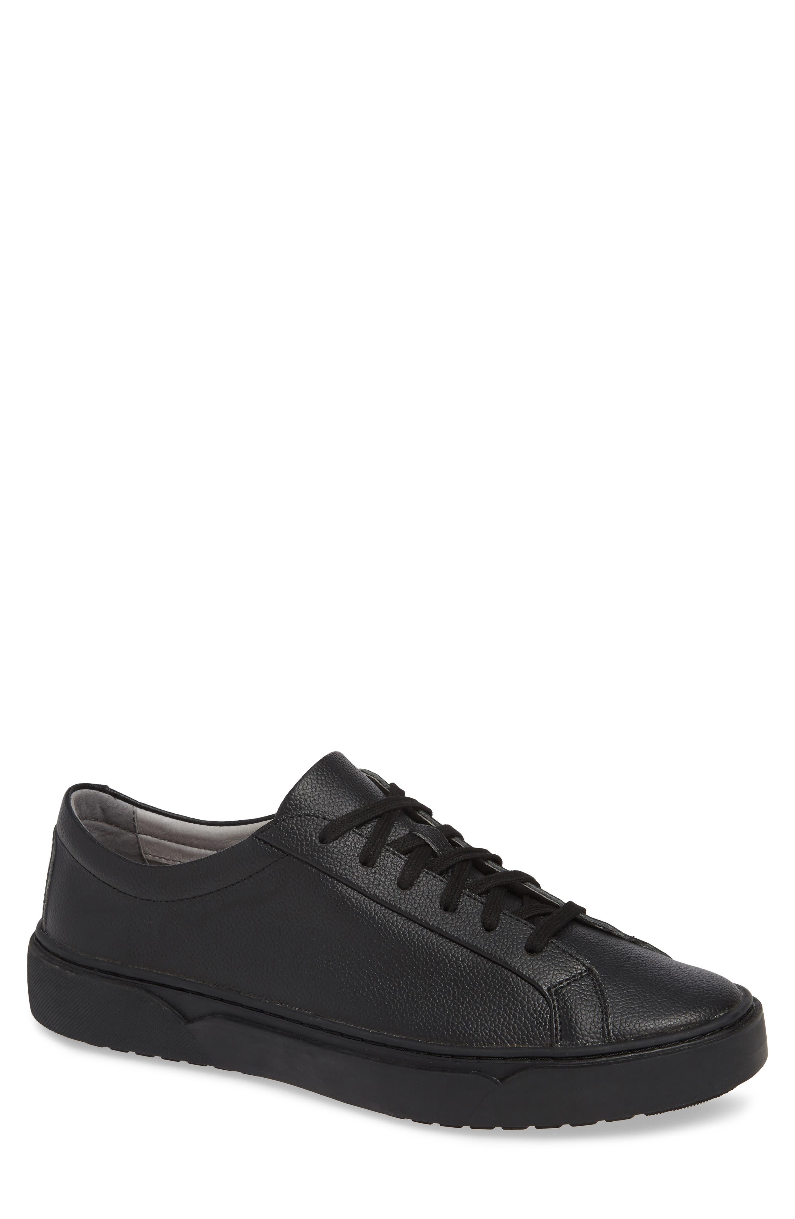 Ken Sneaker,                             Main thumbnail 1, color,                             TRIPLE BLACK LEATHER
