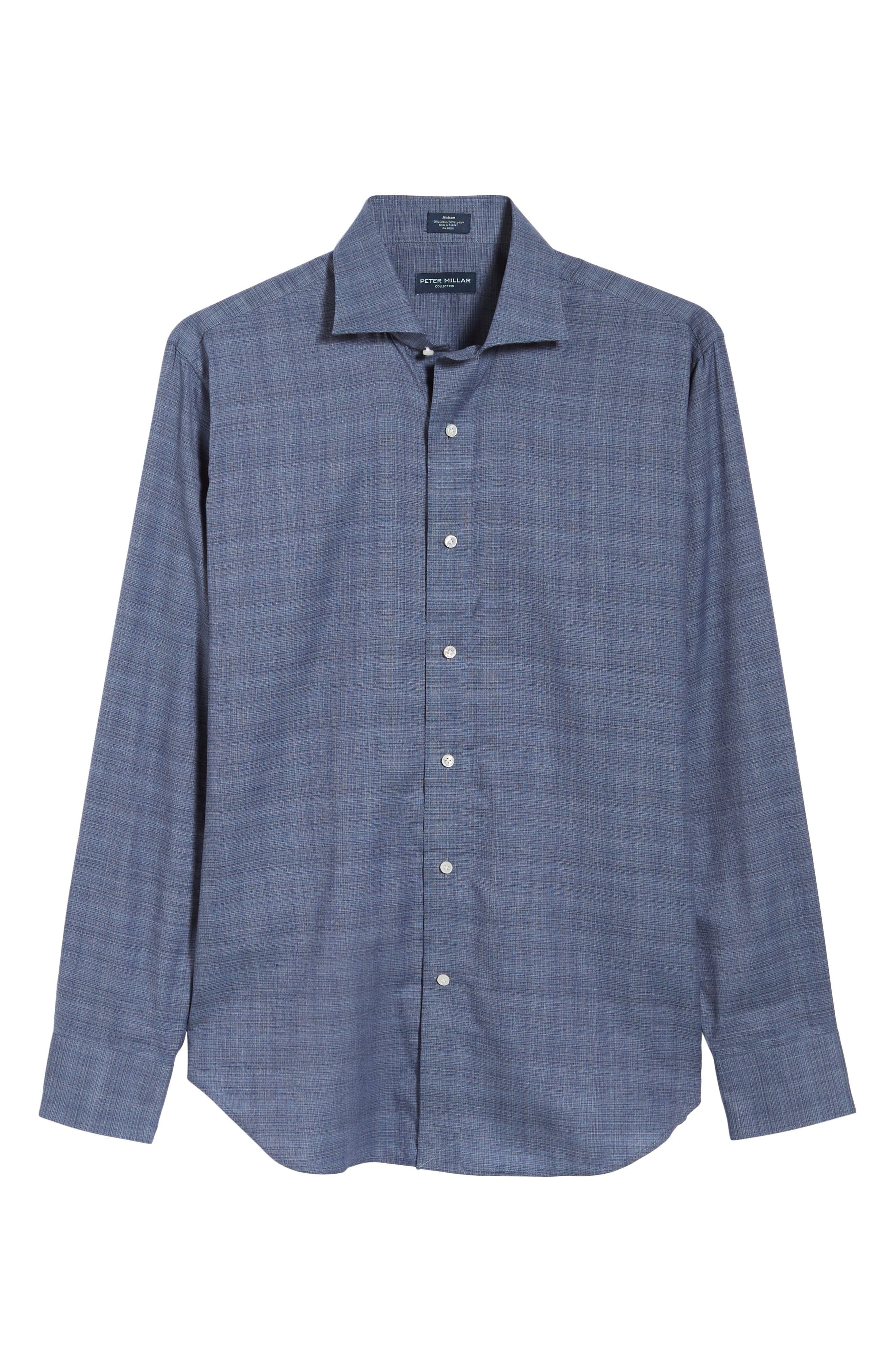 Starlight Regular Fit Chambray Sport Shirt,                             Alternate thumbnail 5, color,                             417