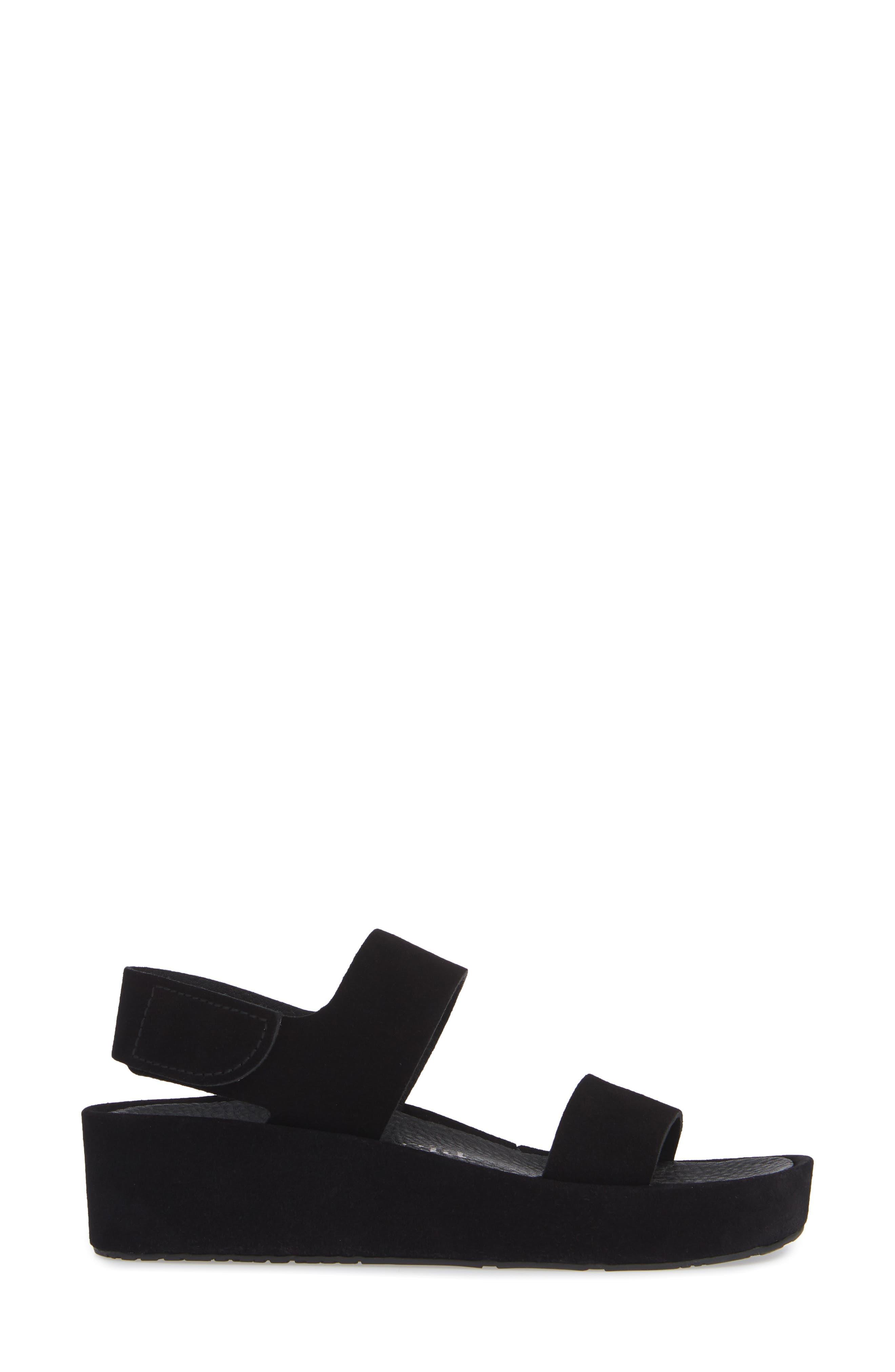 Lacey Footbed Sandal,                             Alternate thumbnail 3, color,                             BLACK CASTORO