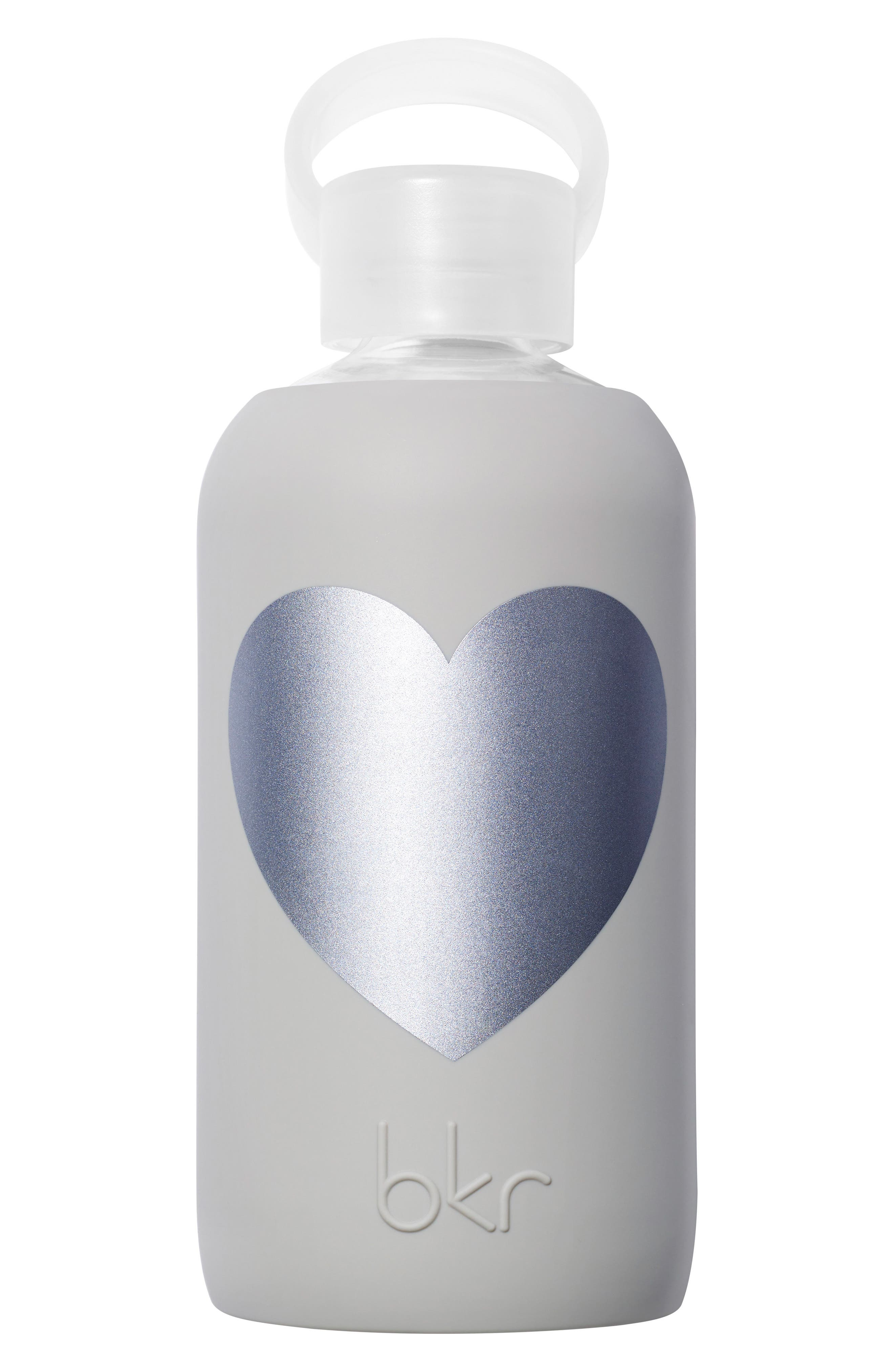 Heart 16-Ounce Glass Water Bottle,                             Main thumbnail 1, color,                             020