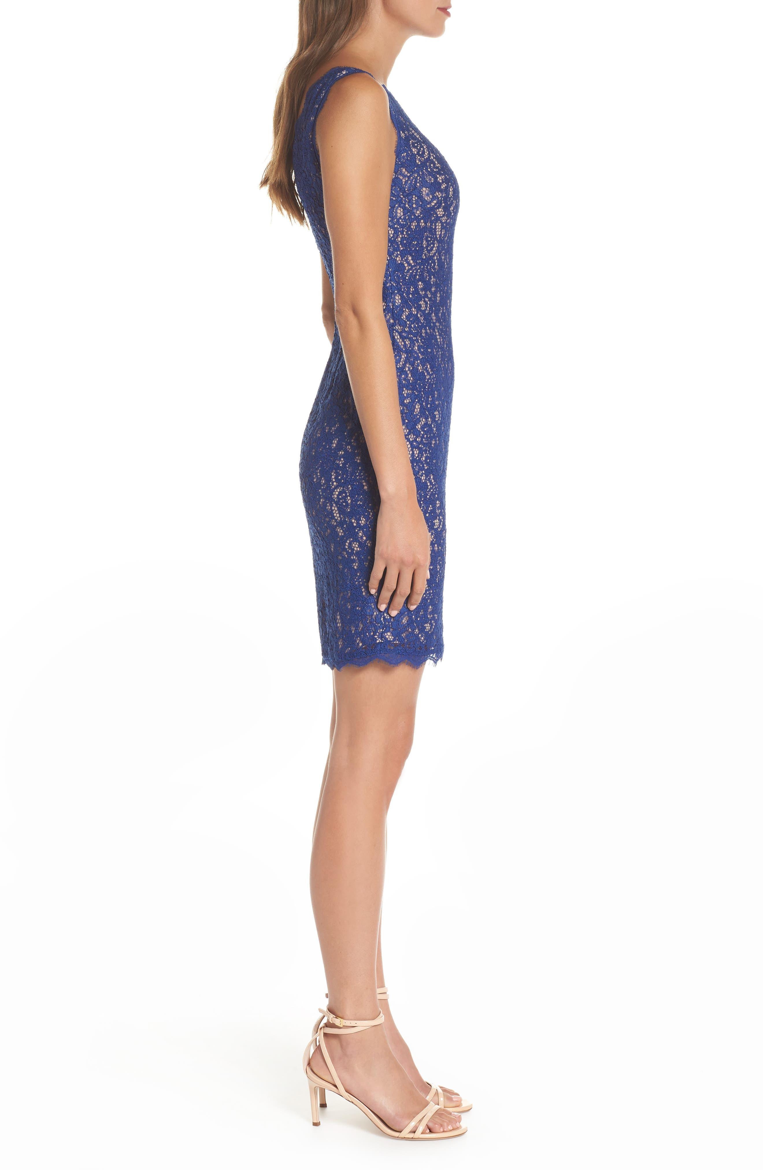 Boatneck Lace Sheath Dress,                             Alternate thumbnail 98, color,