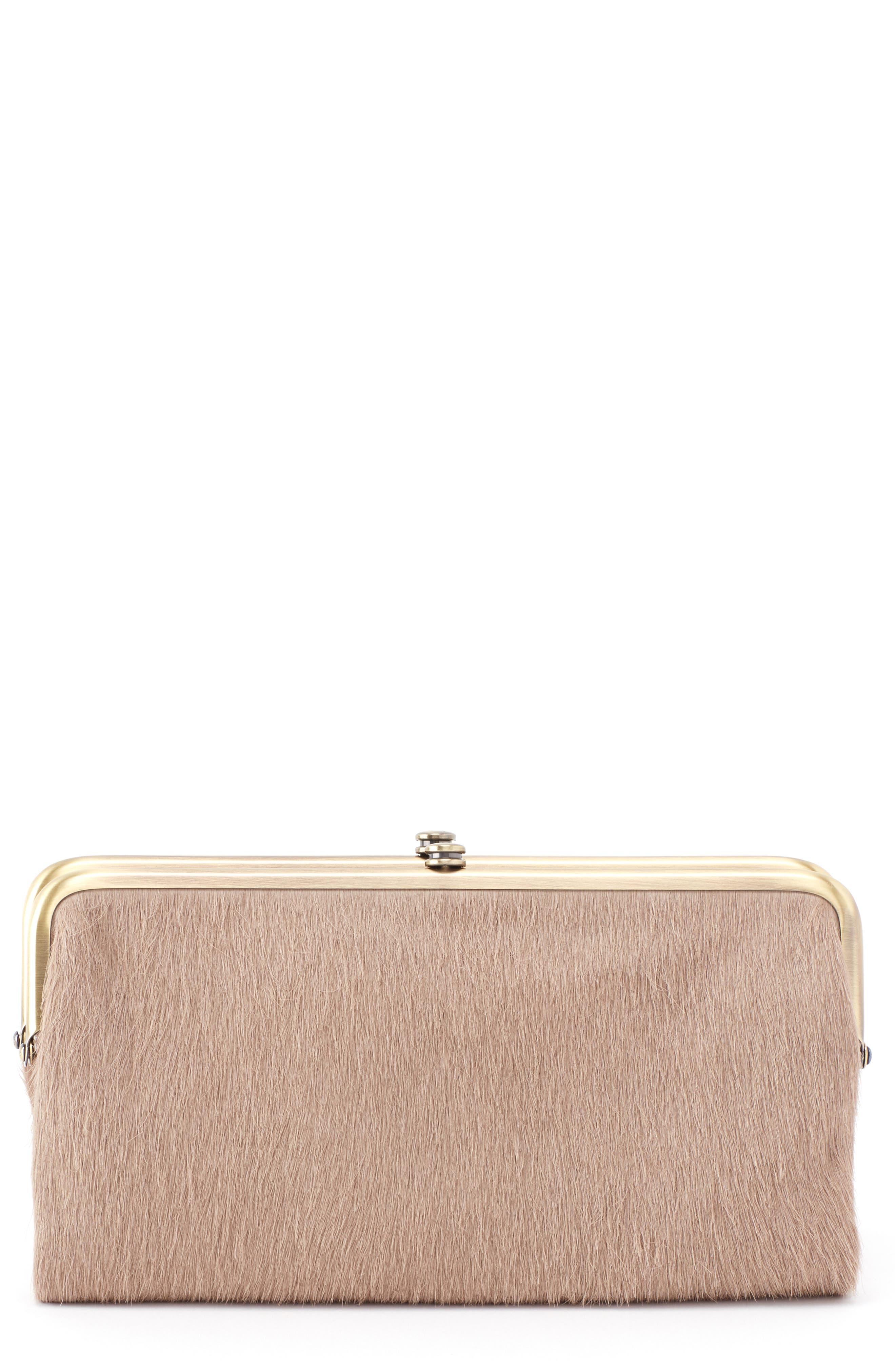 Lauren Colorblock Genuine Calf Hair & Calfskin Leather Wallet,                         Main,                         color, 250