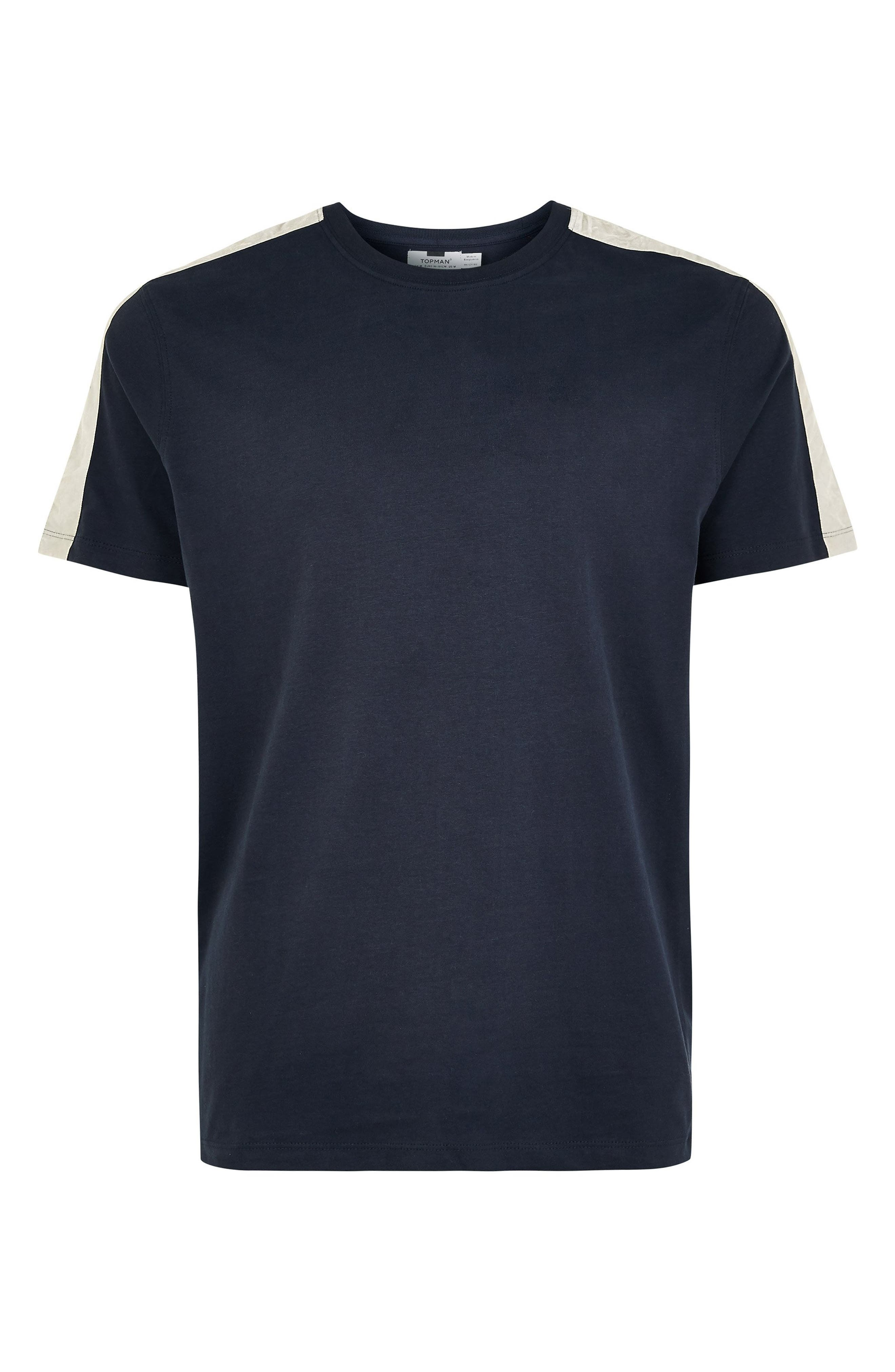 Velour Taped T-Shirt,                             Alternate thumbnail 4, color,                             411