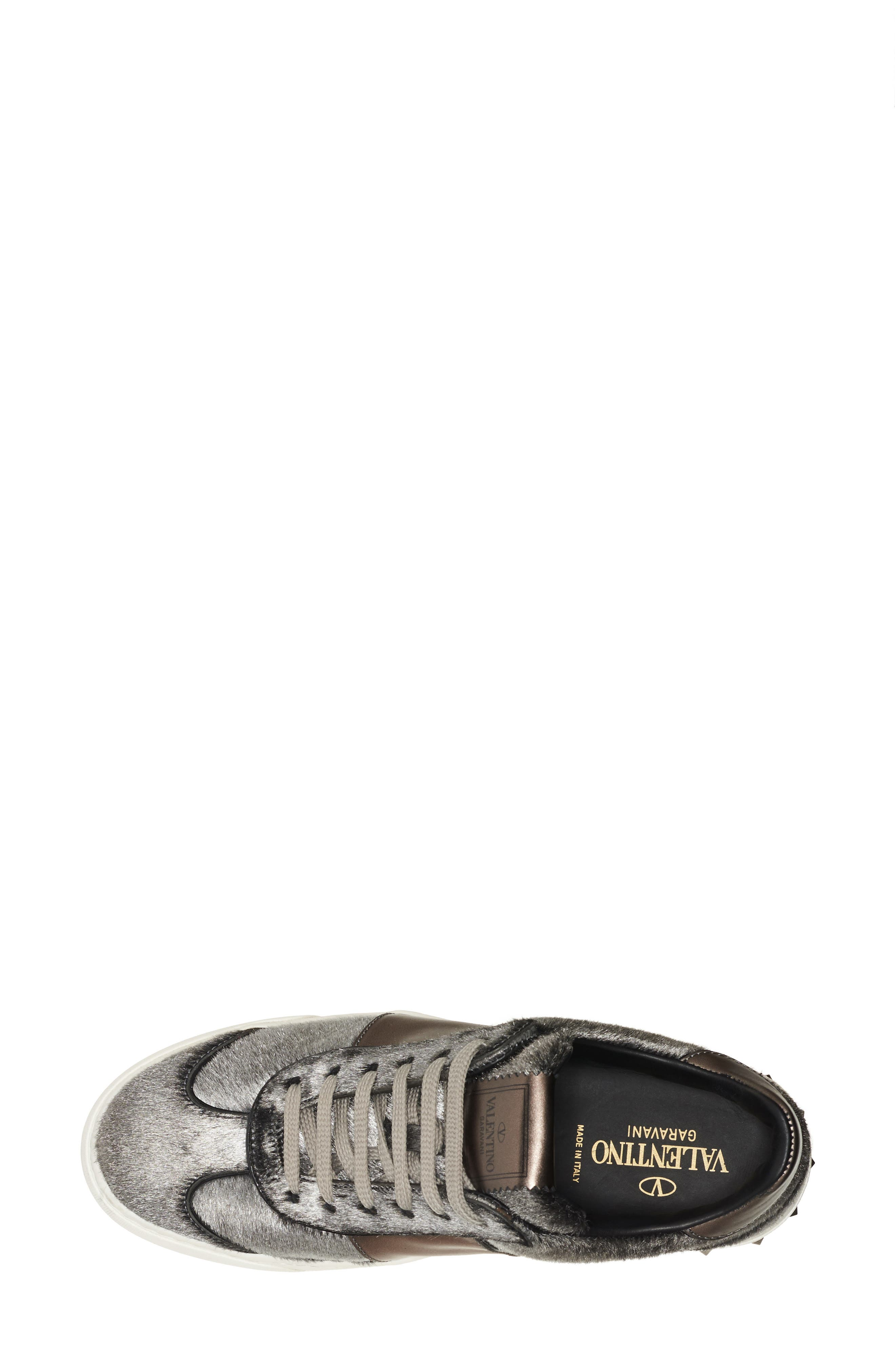 Flycrew Rockstud Genuine Calf Hair Sneaker,                             Alternate thumbnail 4, color,                             040