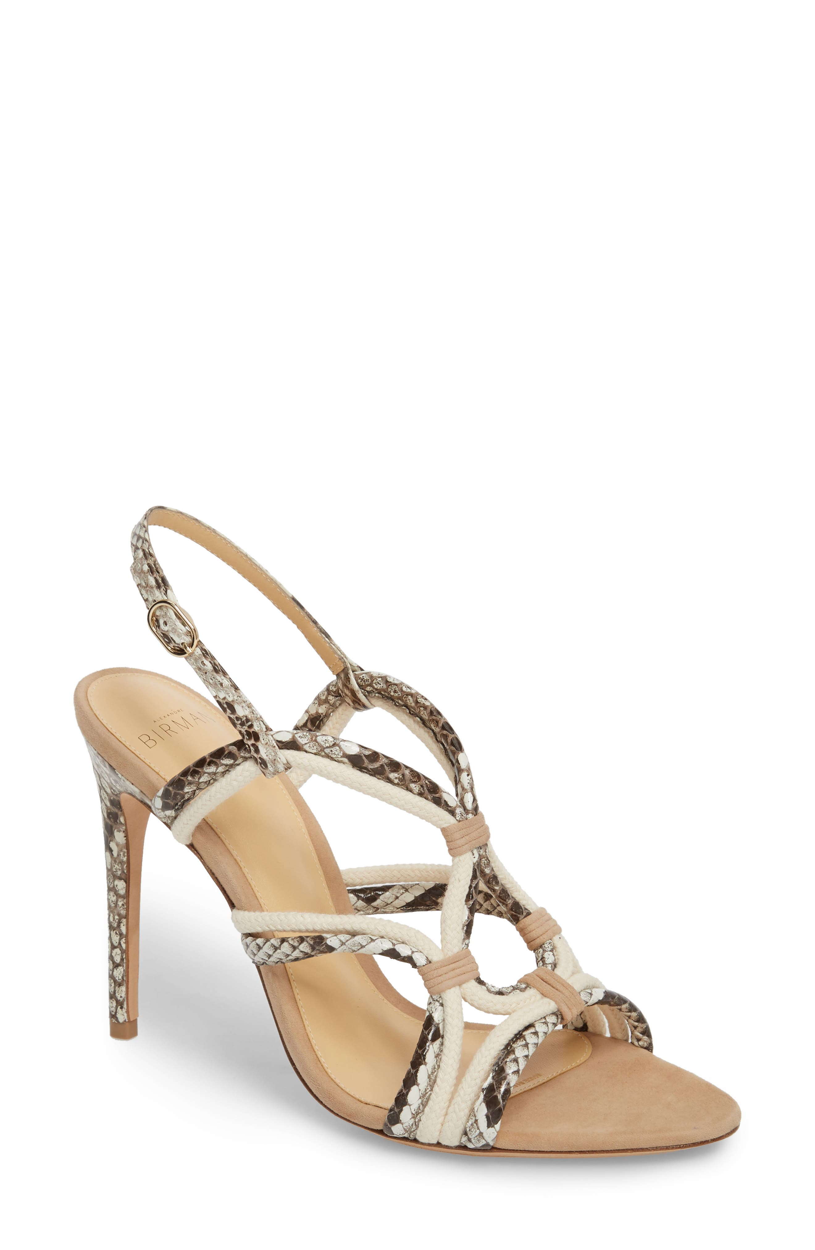 ALEXANDRE BIRMAN Giovanna Genuine Python Sandal, Main, color, 250
