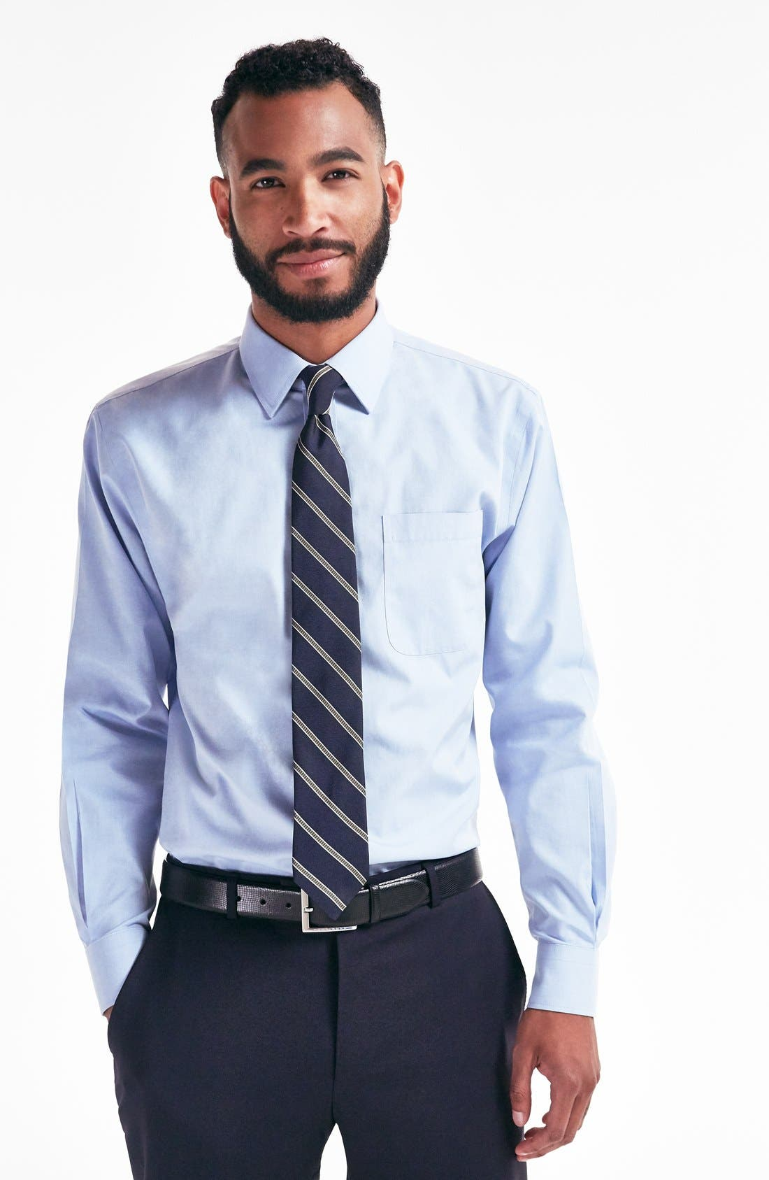 Smartcare<sup>™</sup> Traditional Fit Dress Shirt,                             Alternate thumbnail 6, color,                             WHITE
