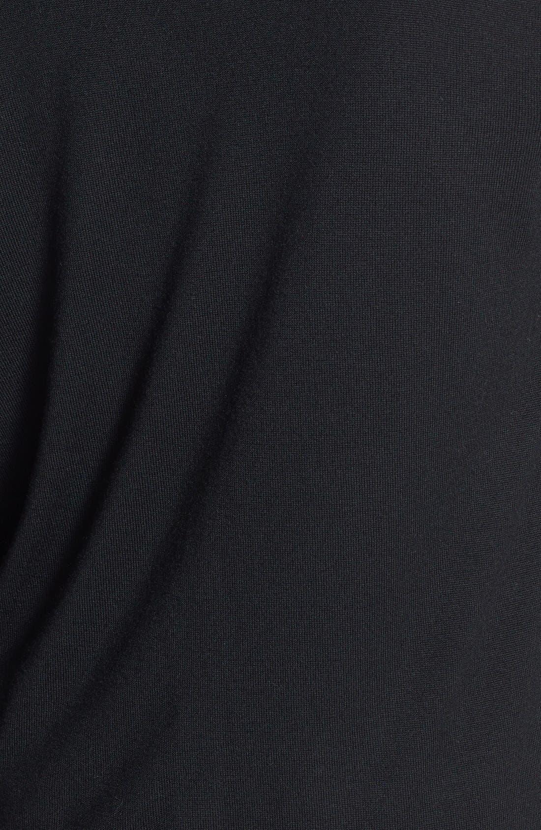Zip Pocket V-Neck Cardigan,                             Alternate thumbnail 3, color,                             001