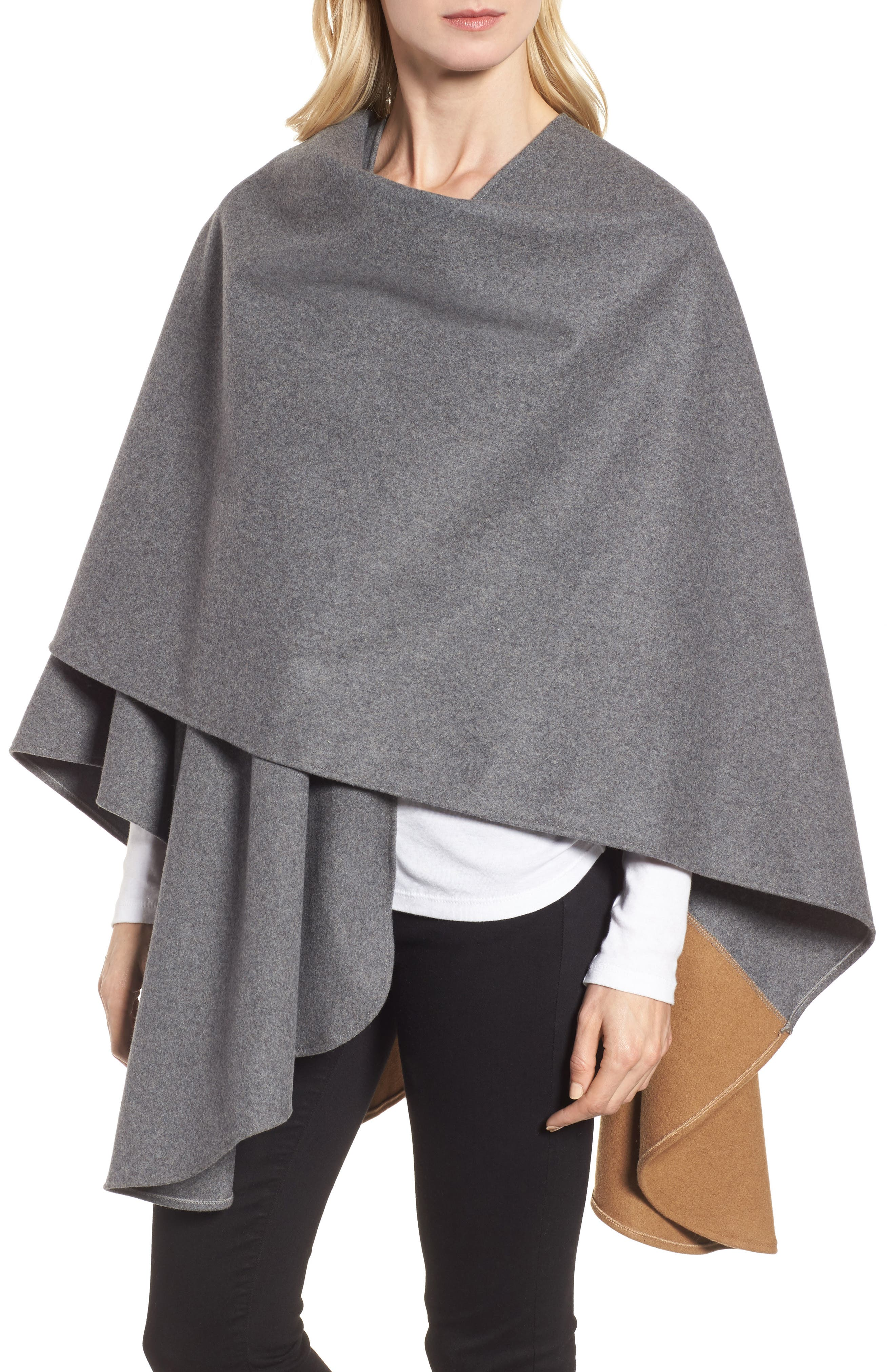 Duo Wonder Wool Cape,                             Alternate thumbnail 7, color,