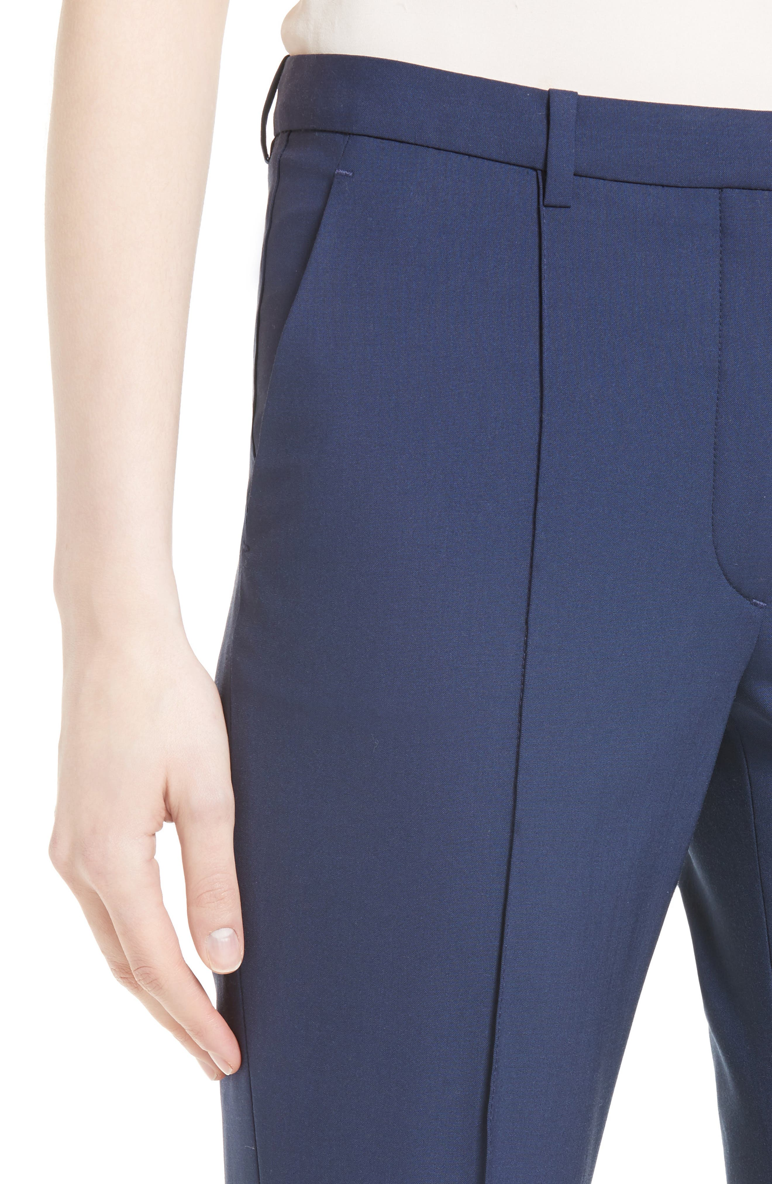 Hartsdale Good Wool Crop Pants,                             Alternate thumbnail 8, color,
