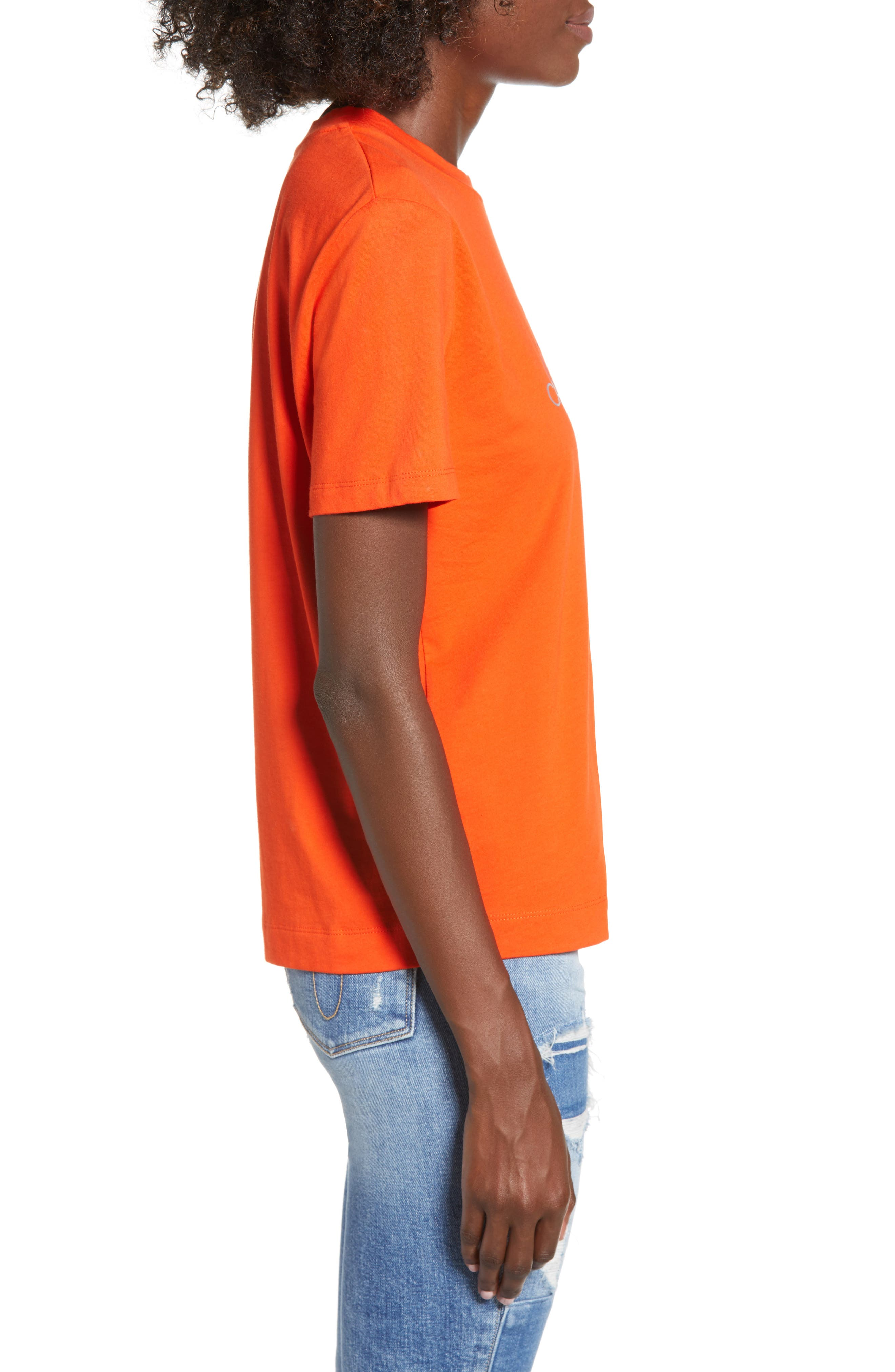 Logo Graphic Tee,                             Alternate thumbnail 3, color,                             PUMPKIN RED