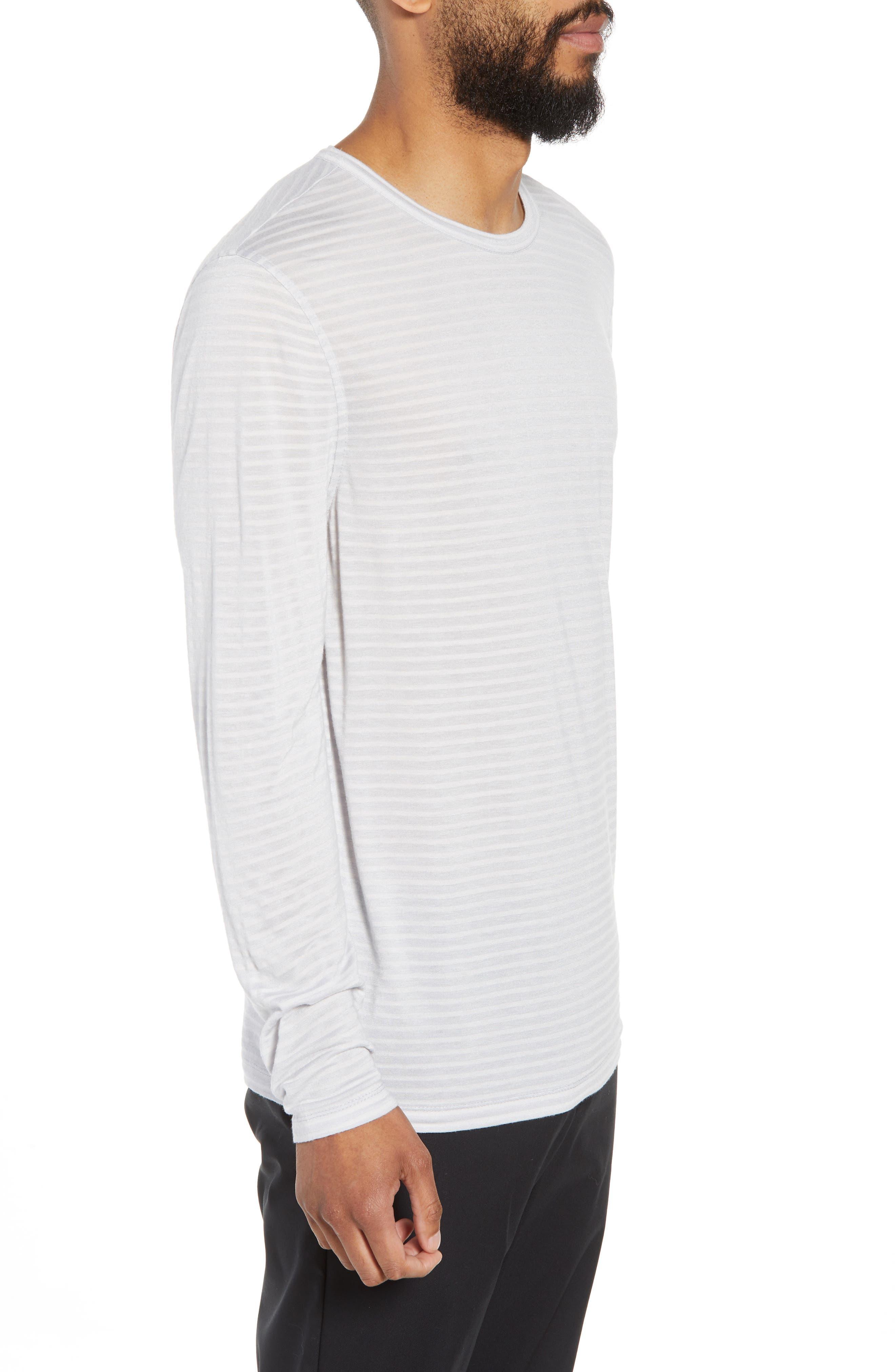 Texture Stripe Long Sleeve T-Shirt,                             Alternate thumbnail 3, color,                             050