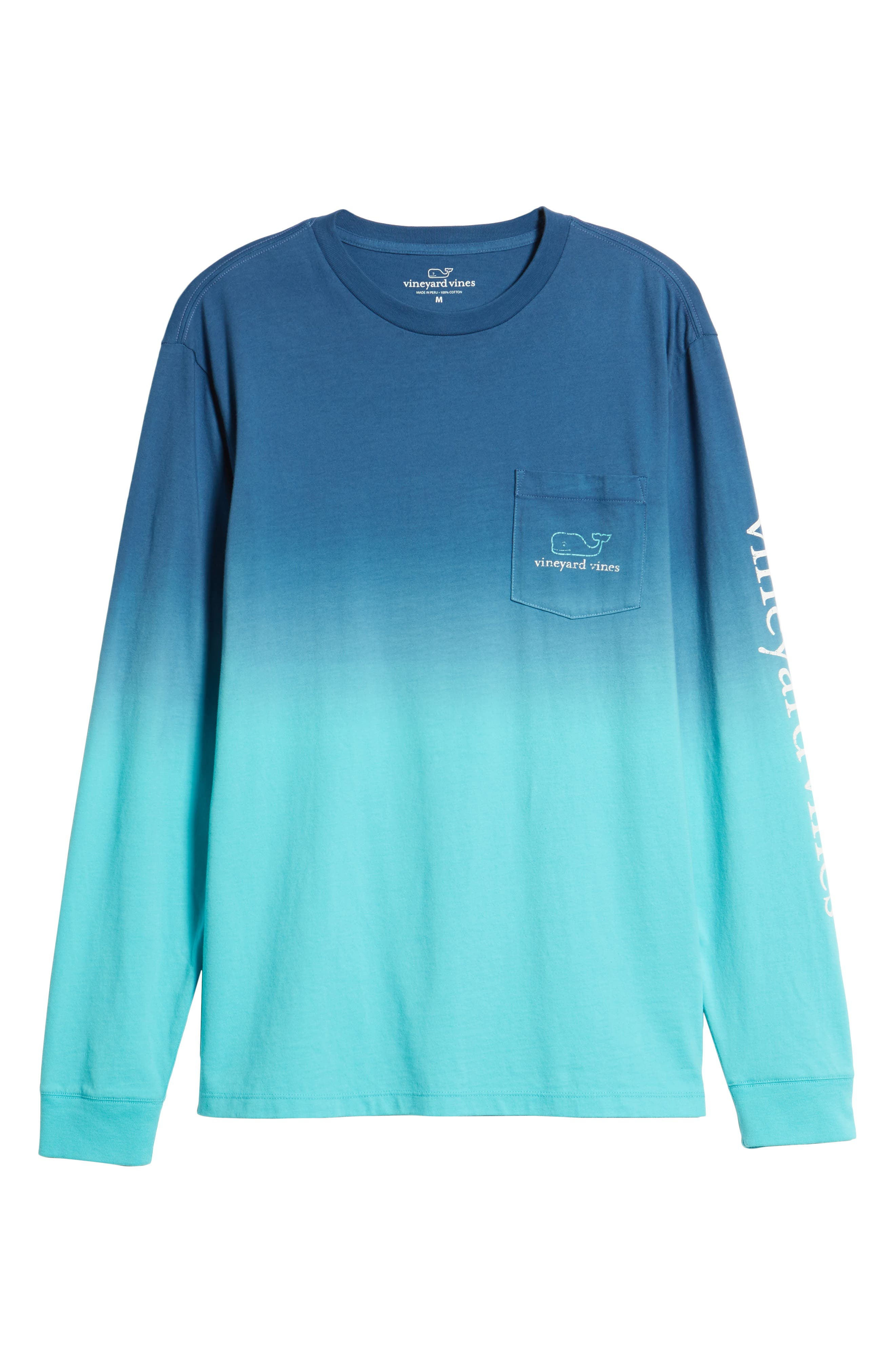 Dip Dye Two-Tone Whale Pocket T-Shirt,                             Alternate thumbnail 6, color,                             461