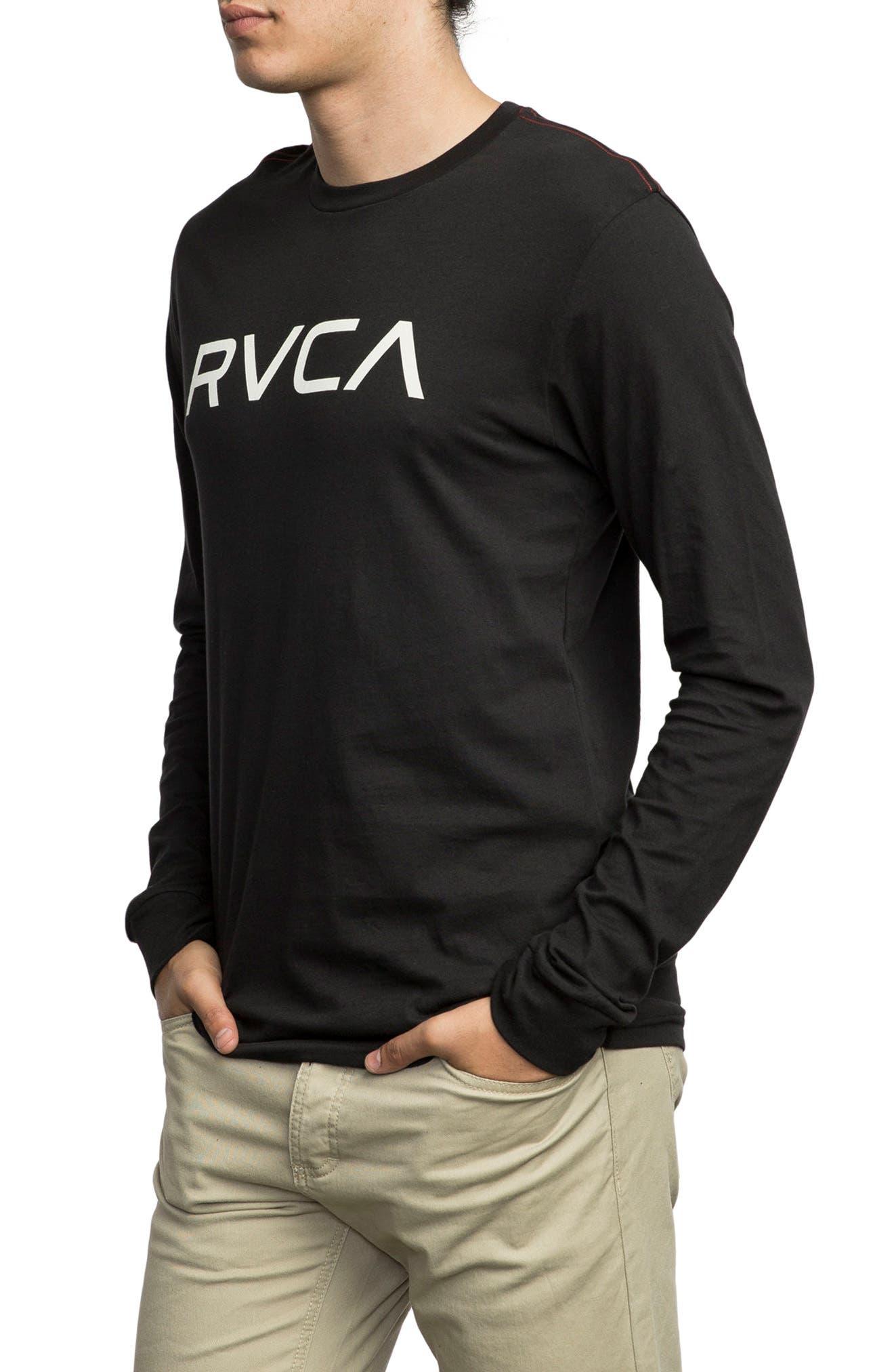 Big RVCA Graphic T-Shirt,                             Alternate thumbnail 3, color,                             001