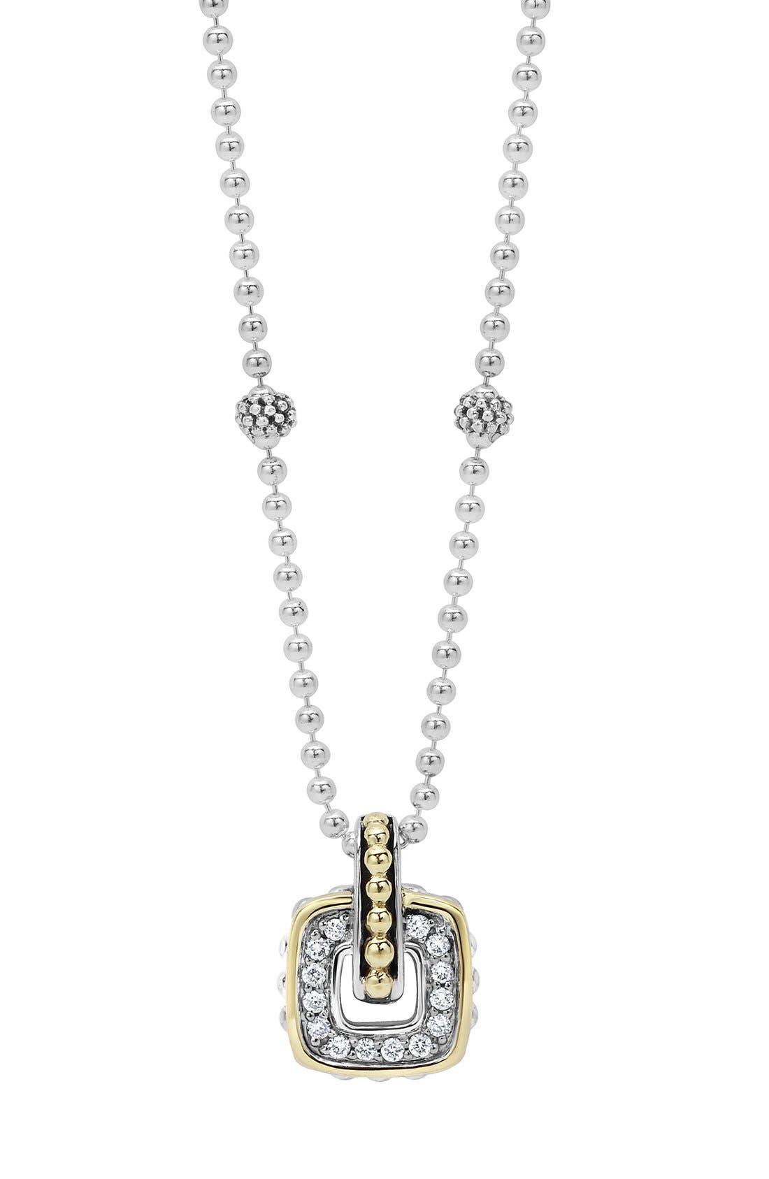 'Cushion' Small Pendant Necklace,                             Main thumbnail 1, color,                             040