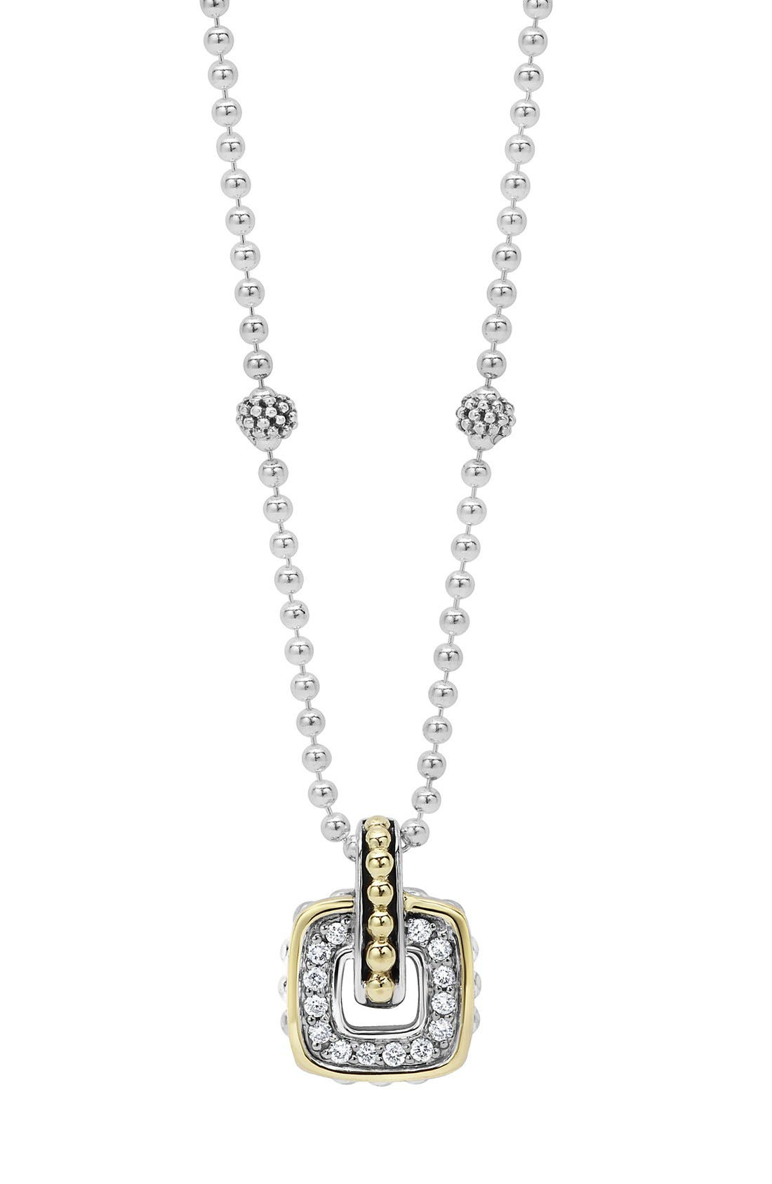 'Cushion' Small Pendant Necklace,                         Main,                         color, 040